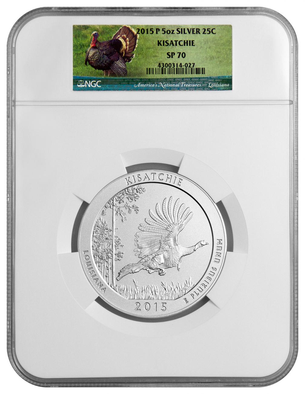 2015-P Kisatchie 5 oz. Silver America the Beautiful Specimen Coin NGC SP70