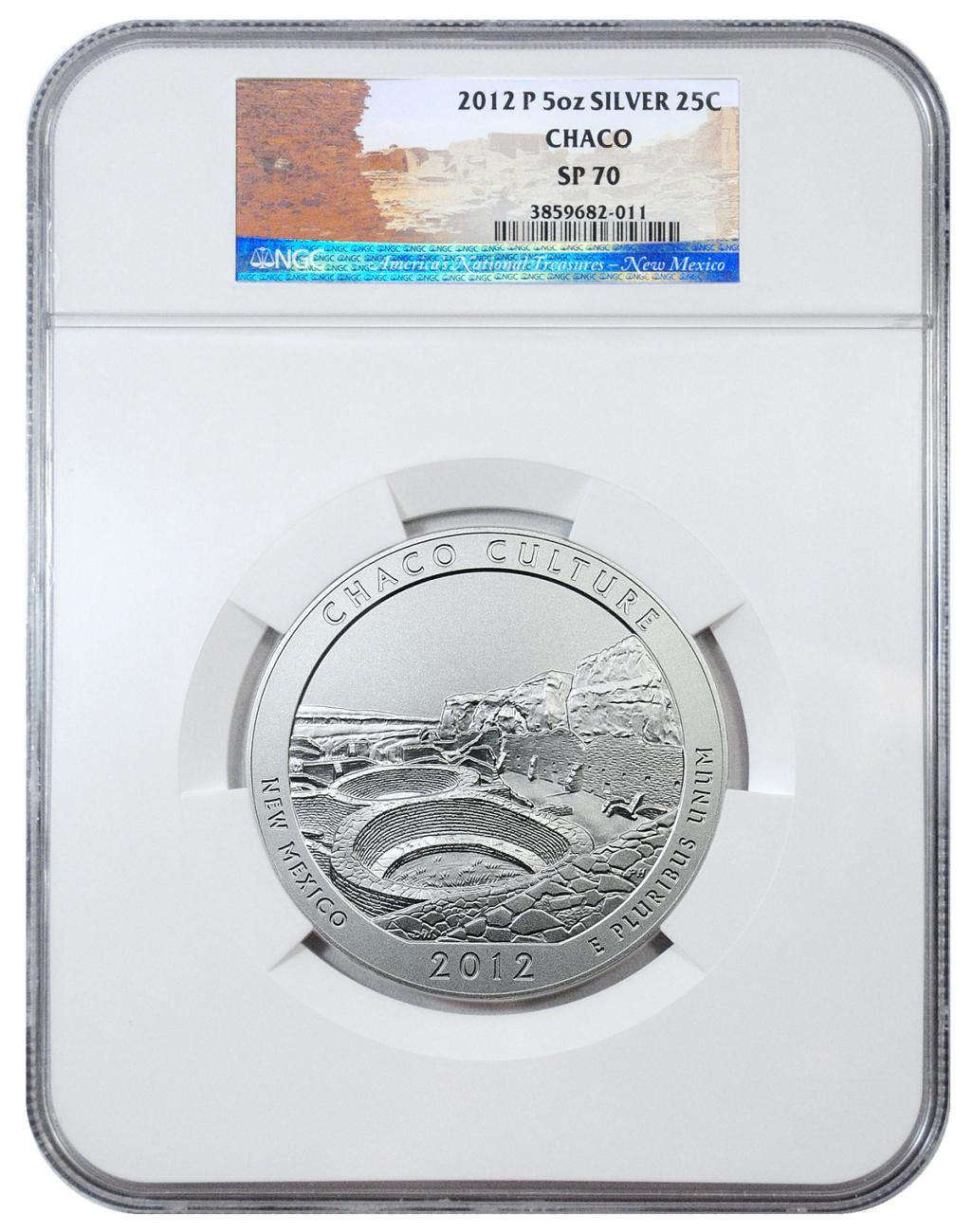 2012-P 25c 5 oz. Specimen Silver America the Beautiful - Chaco - NGC SP70