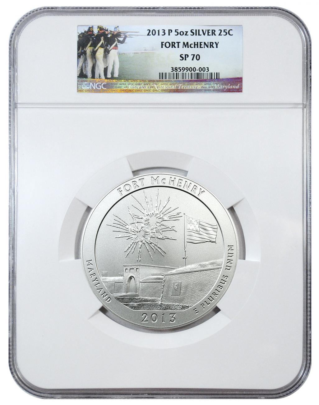 2013-P Fort McHenry 5 oz. Silver America the Beautiful Specimen Coin NGC SP70