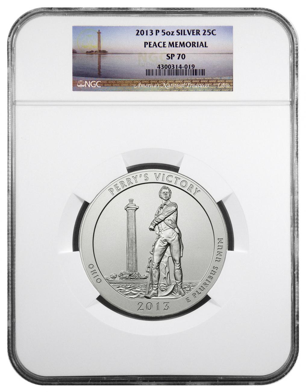 2013-P Perry's Victory 5 oz. Silver America the Beautiful Specimen Coin NGC SP70