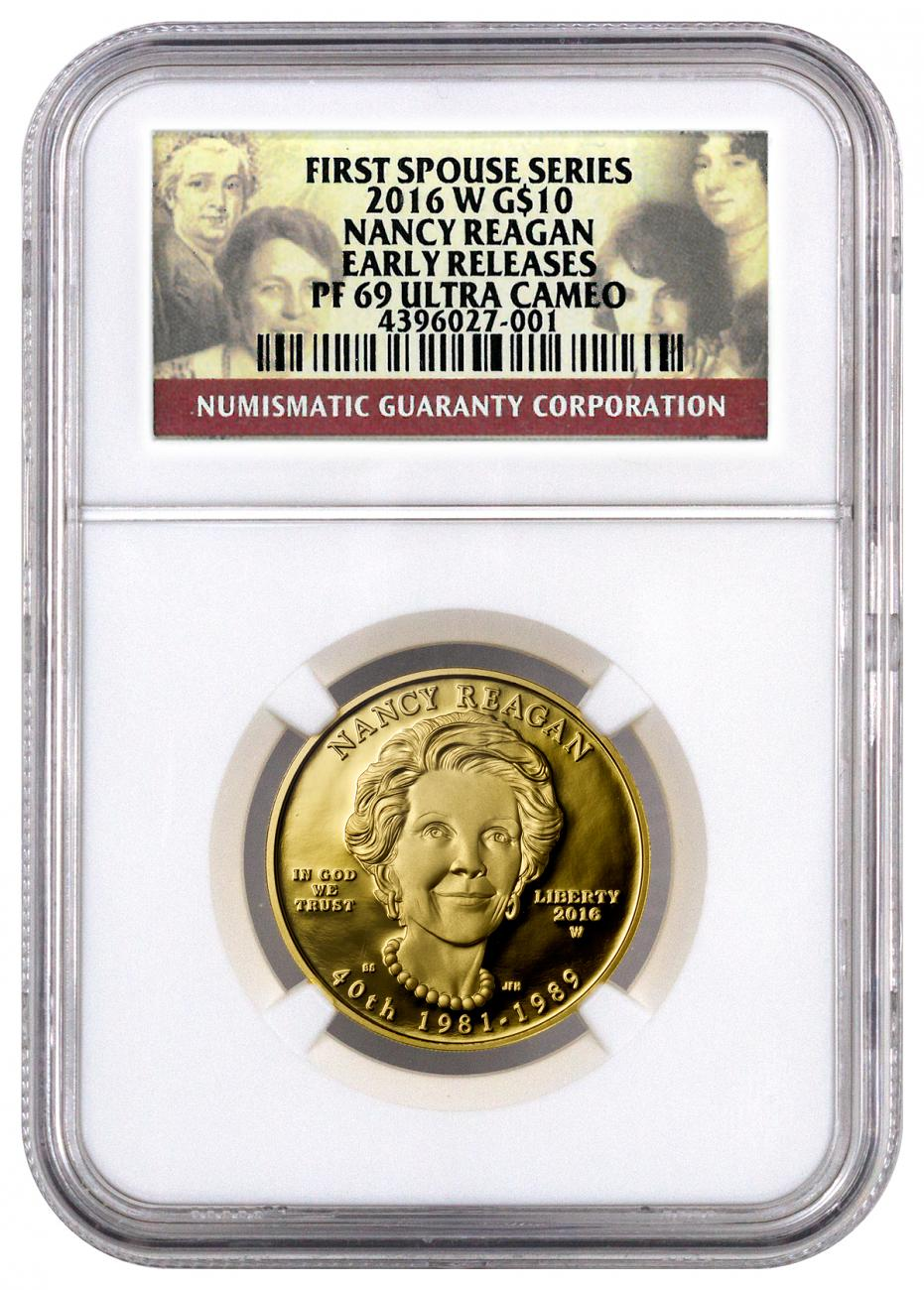 2016-W $10 1/2 oz. Proof Gold First Spouse - Nancy Reagan - NGC PF69 UC Early Releases