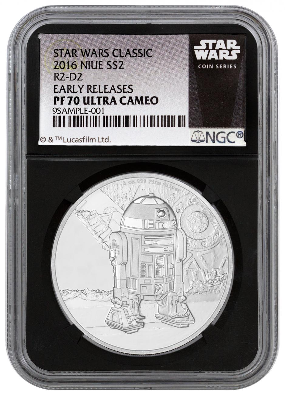 2016 Niue Star Wars Classic R2 D2 1 Oz Silver Proof 2