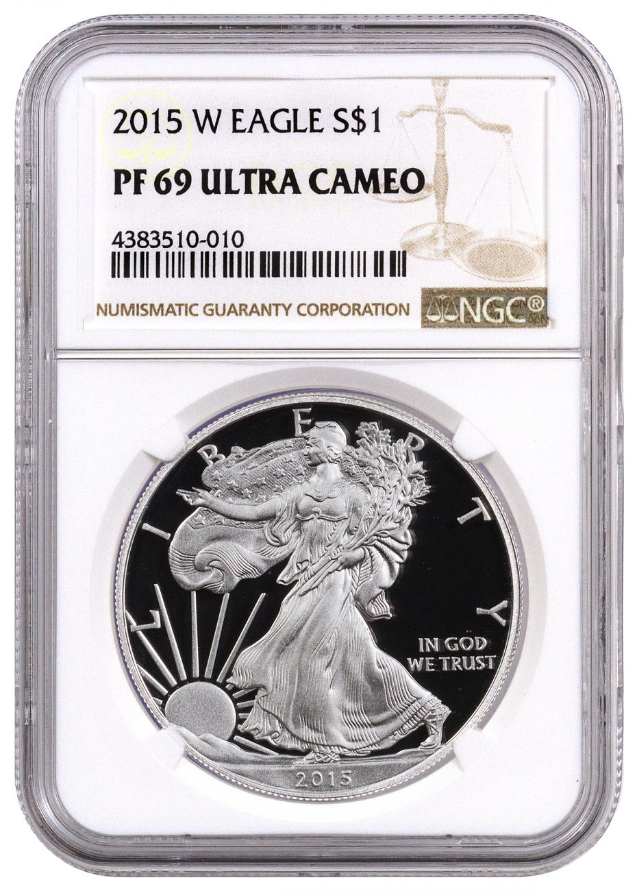 2015 W American Silver Eagle Proof Ngc Pf69 Uc