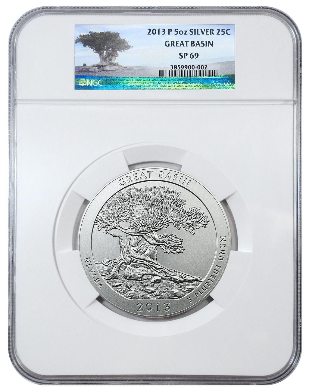 2013-P Great Basin 5 oz. Silver America the Beautiful Specimen Coin NGC SP69