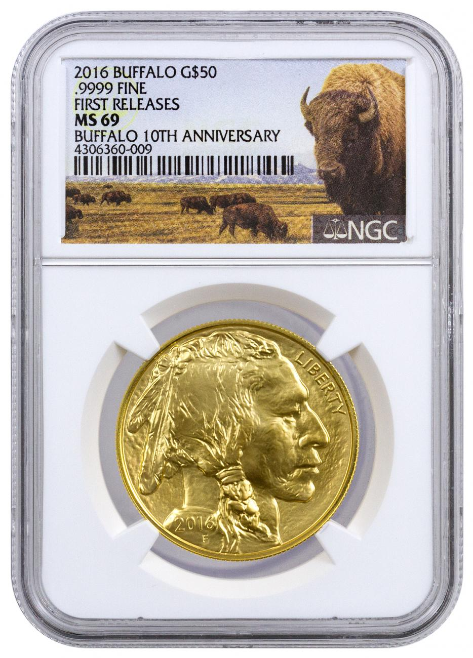 2016 $50 1 oz. Gold Buffalo - NGC MS69 First Releases (Buffalo Label)