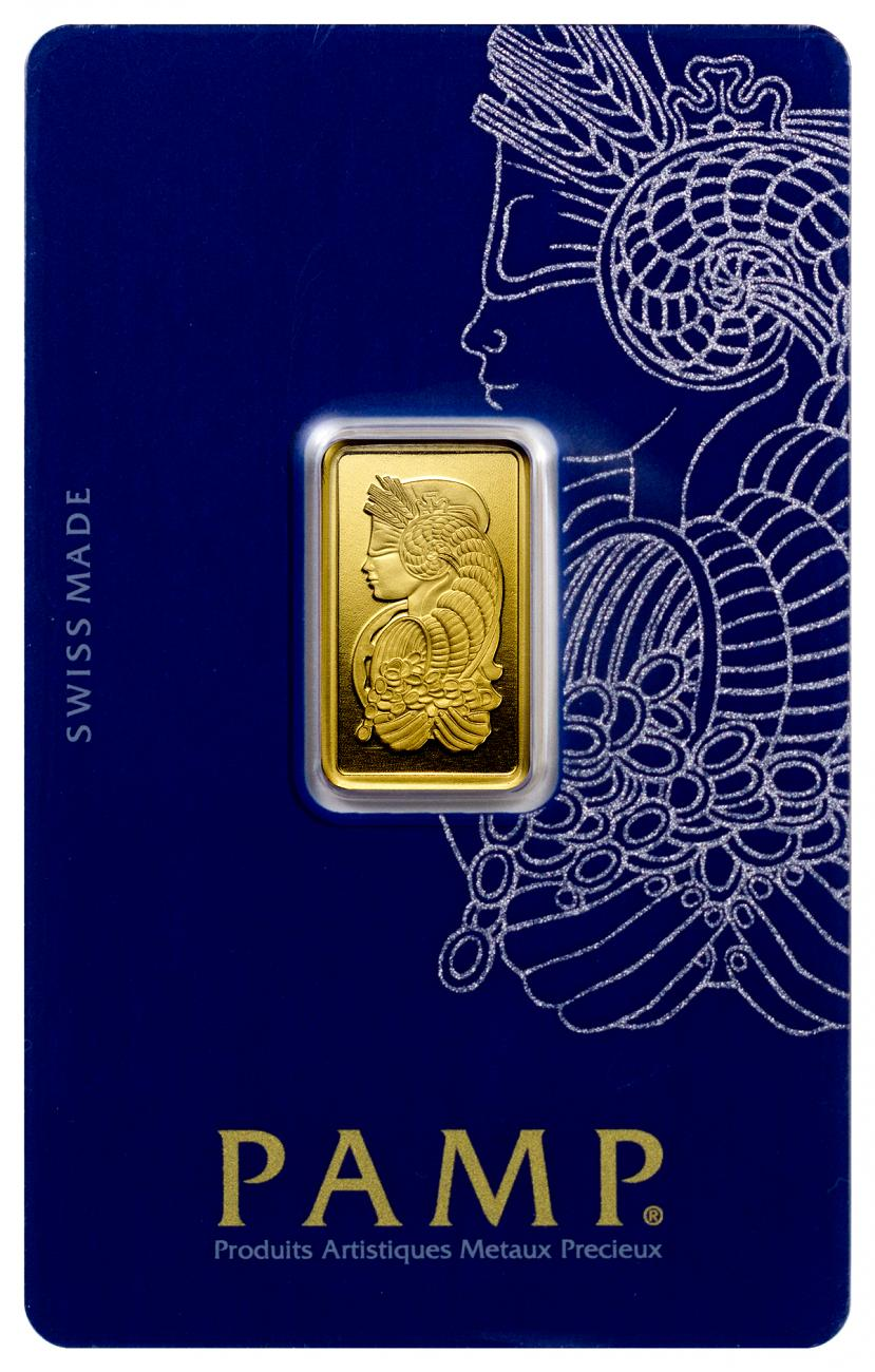 PAMP Fortuna 5 g Gold Bar In Assay