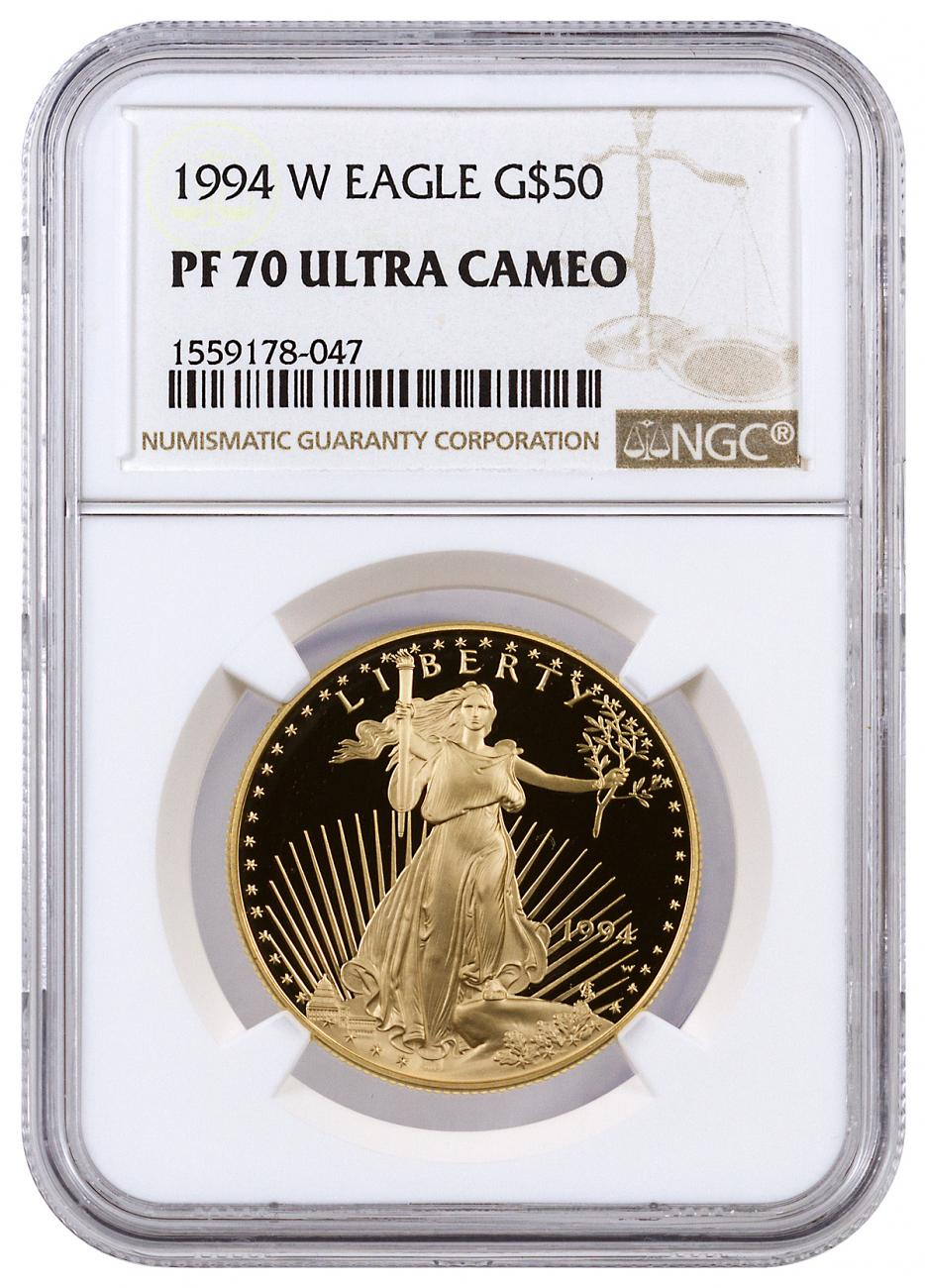 1994-W 1 oz Gold American Eagle Proof $50 NGC PF70 UC