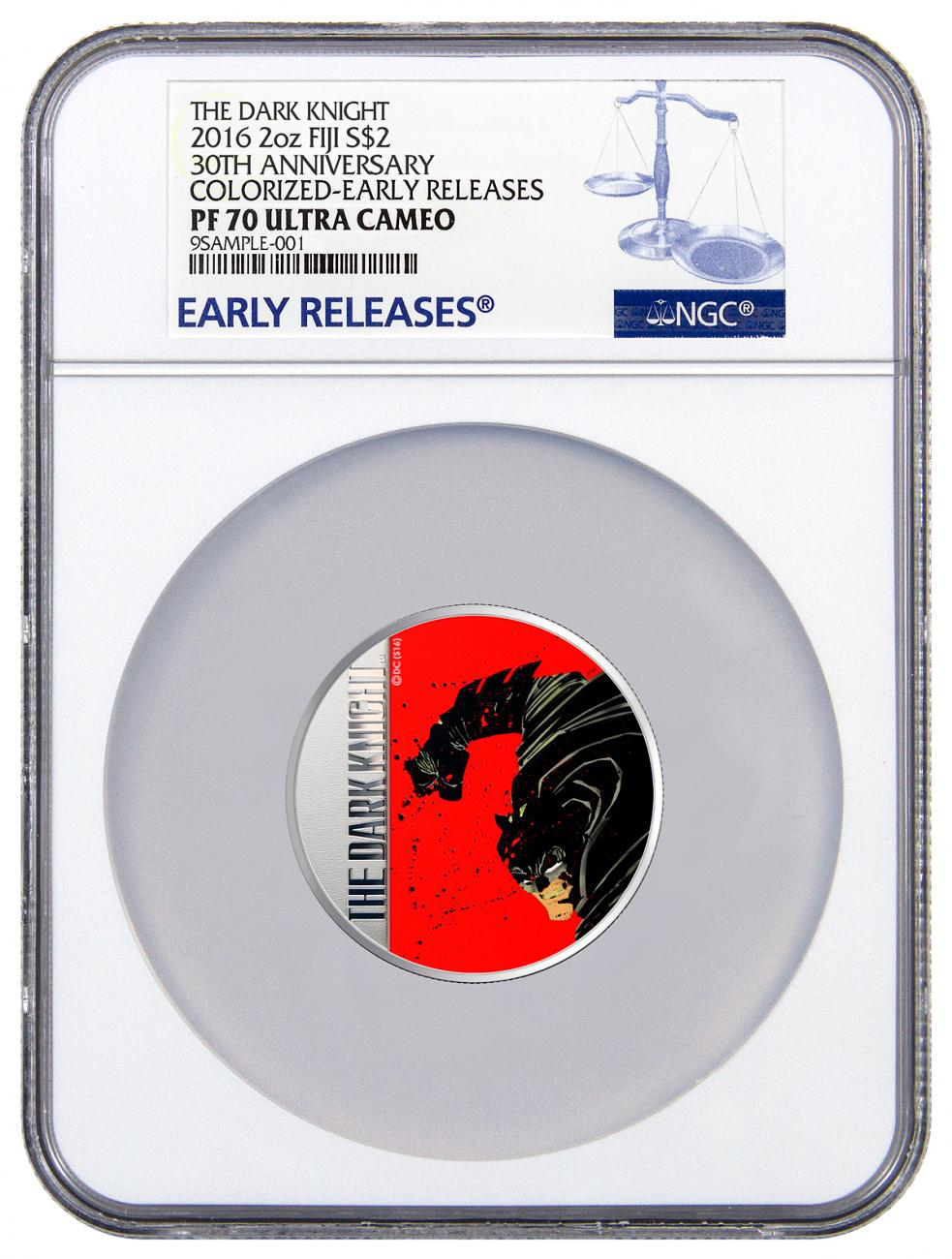 2016 Fiji $2 2 oz. Colorized Proof Silver Batman: The Dark Knight Returns - 30th Anniversary - NGC PF70 UC Early Releases