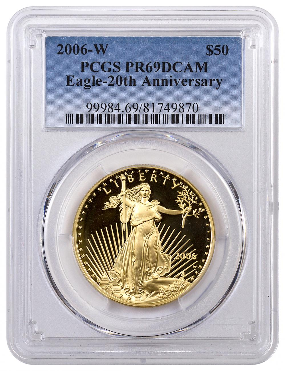 2006-W $50 1 oz. Proof American Gold Eagle - From 20th Anniversary Set - PCGS PR69 DCAM