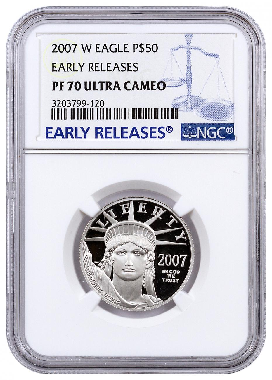 2007-W $50 1/2 oz. Proof American Platinum Eagle - NGC PF70 UC Early Releases