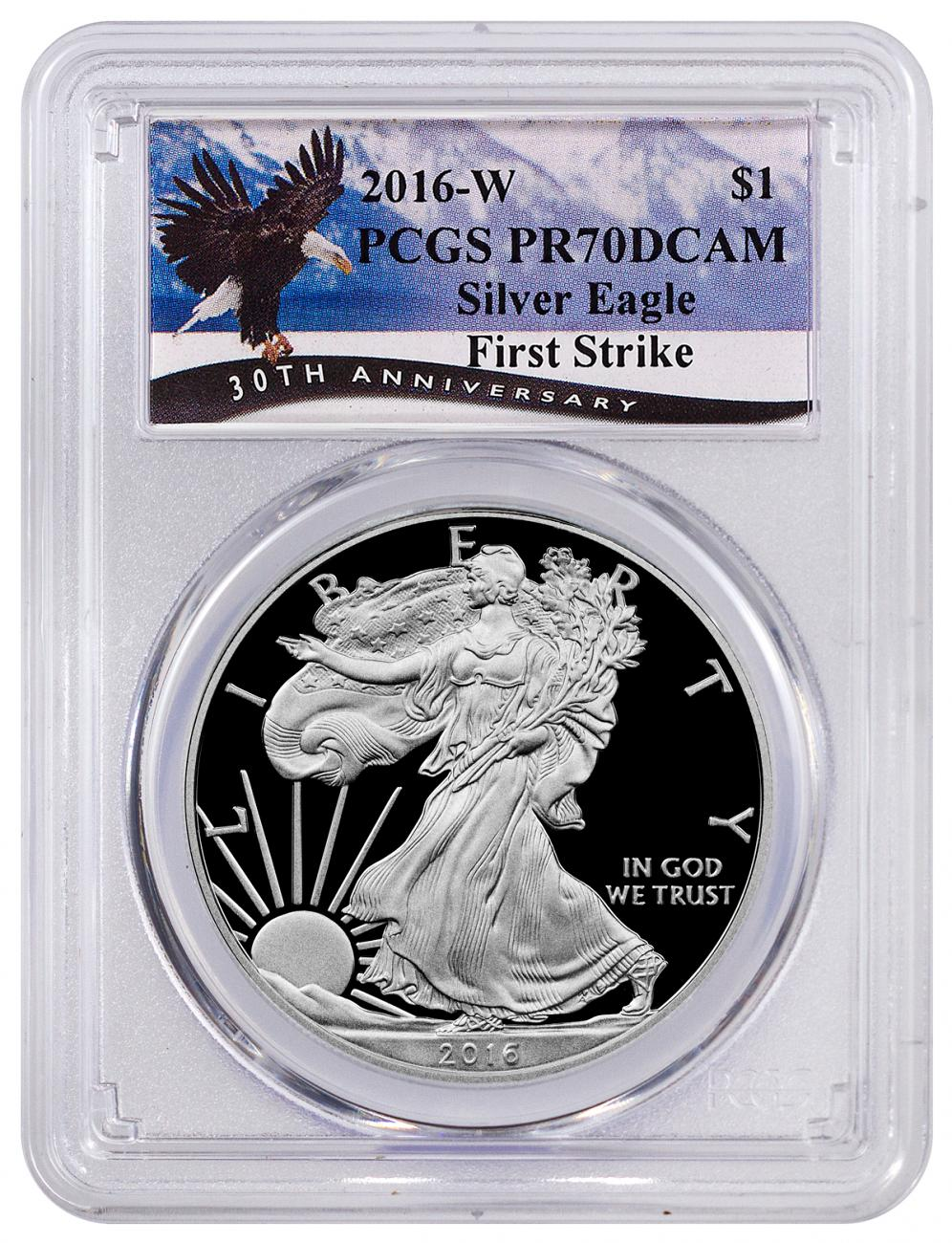 2016-W Proof American Silver Eagle - PCGS PR70 DCAM First Strike (Special Flying Eagle Label)