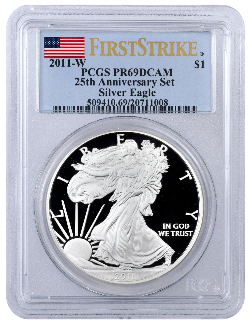 2011-W Proof American Silver Eagle - From 25th Anniversary Set - PCGS PR69 DCAM First Strike