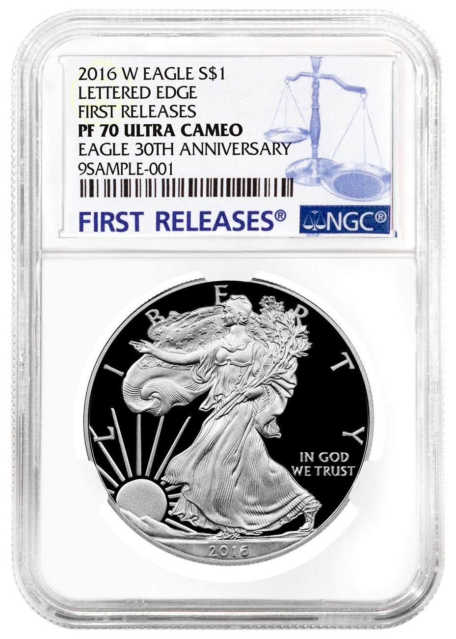 2016-W Proof American Silver Eagle - NGC PF70 UC First Releases