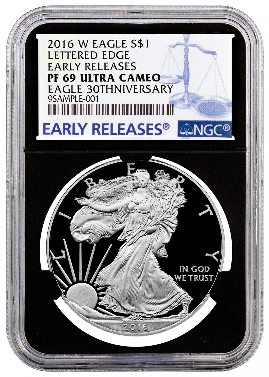 2016-W Proof American Silver Eagle - NGC PF69 UC Early Releases (Black Core)