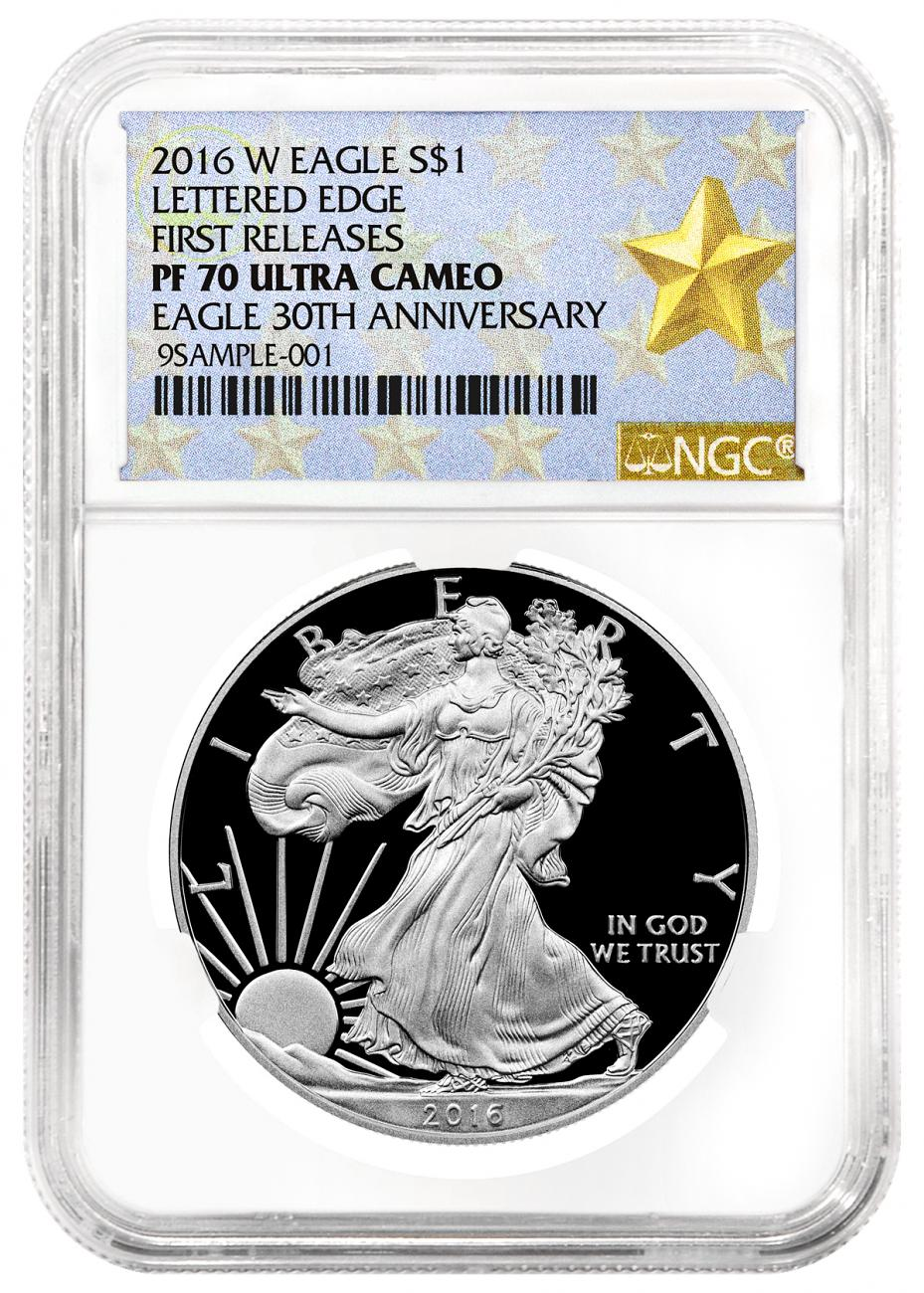 2016-W Proof American Silver Eagle - NGC PF70 UC First Releases (West Point Star Label)