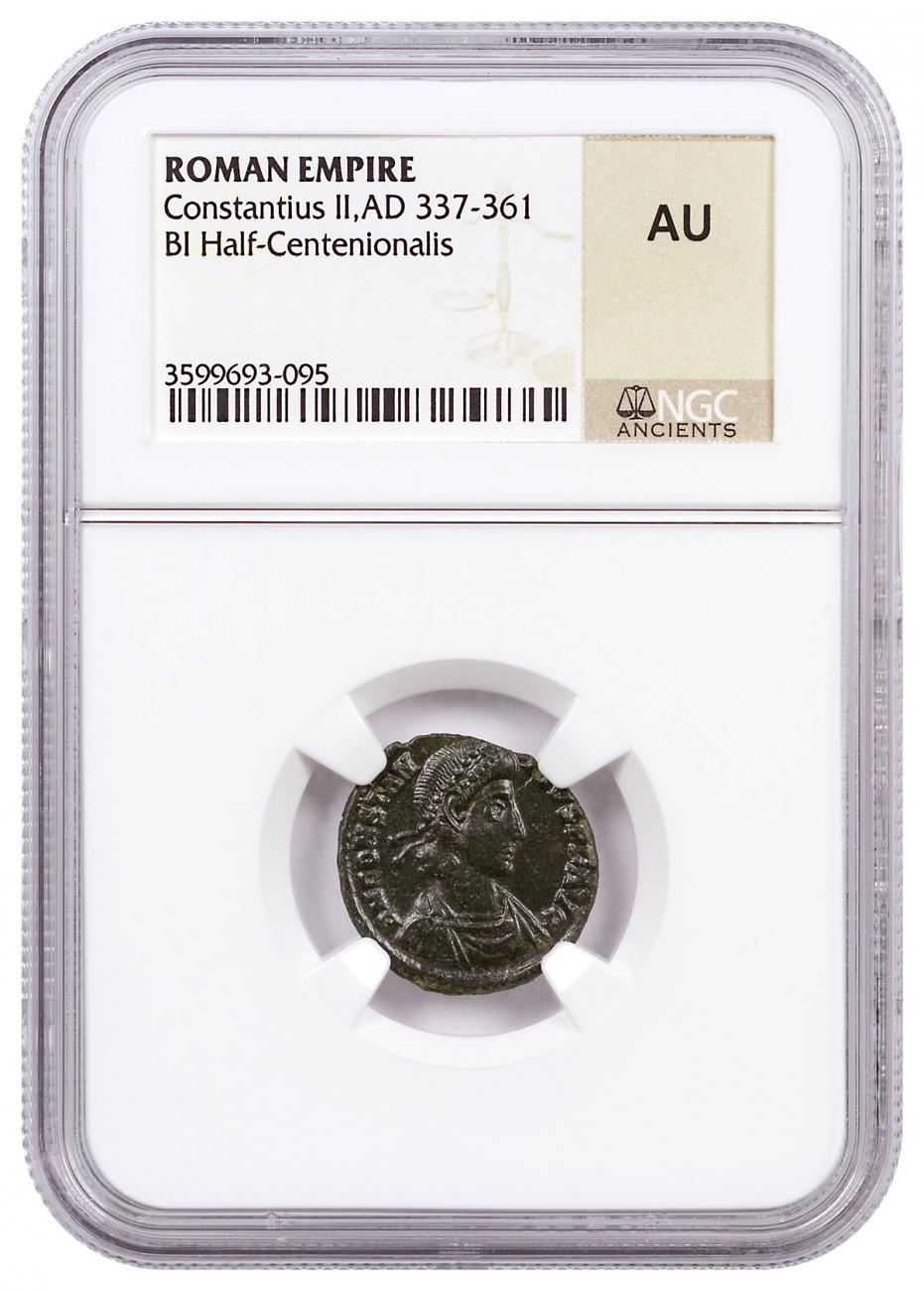 Roman Empire, Random Billon Half-Centenionalis (3rd-5th Centuries AD) NGC AU