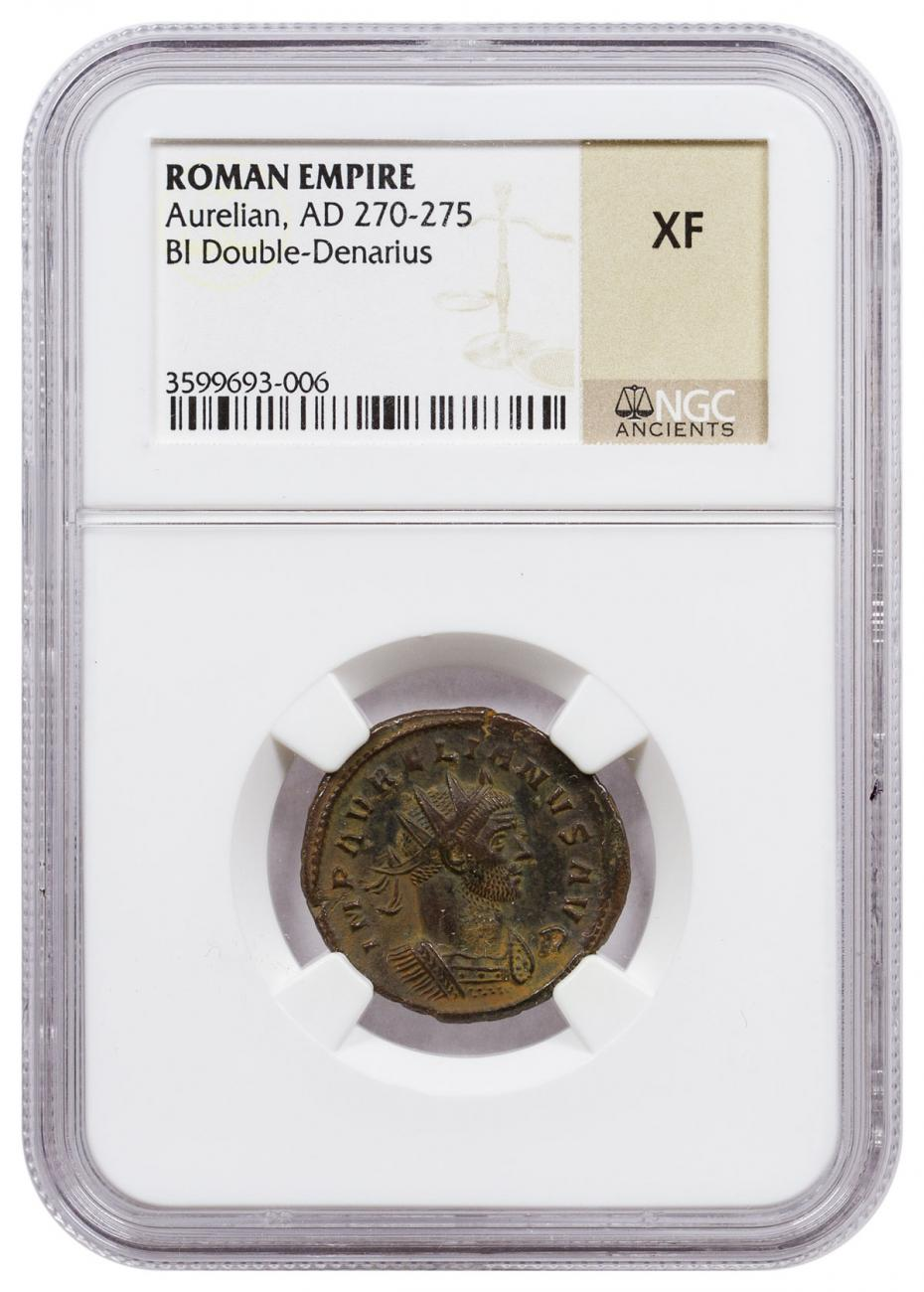 Roman Empire, Billon Double Denarius of Aurelian (AD 270-275) NGC XF
