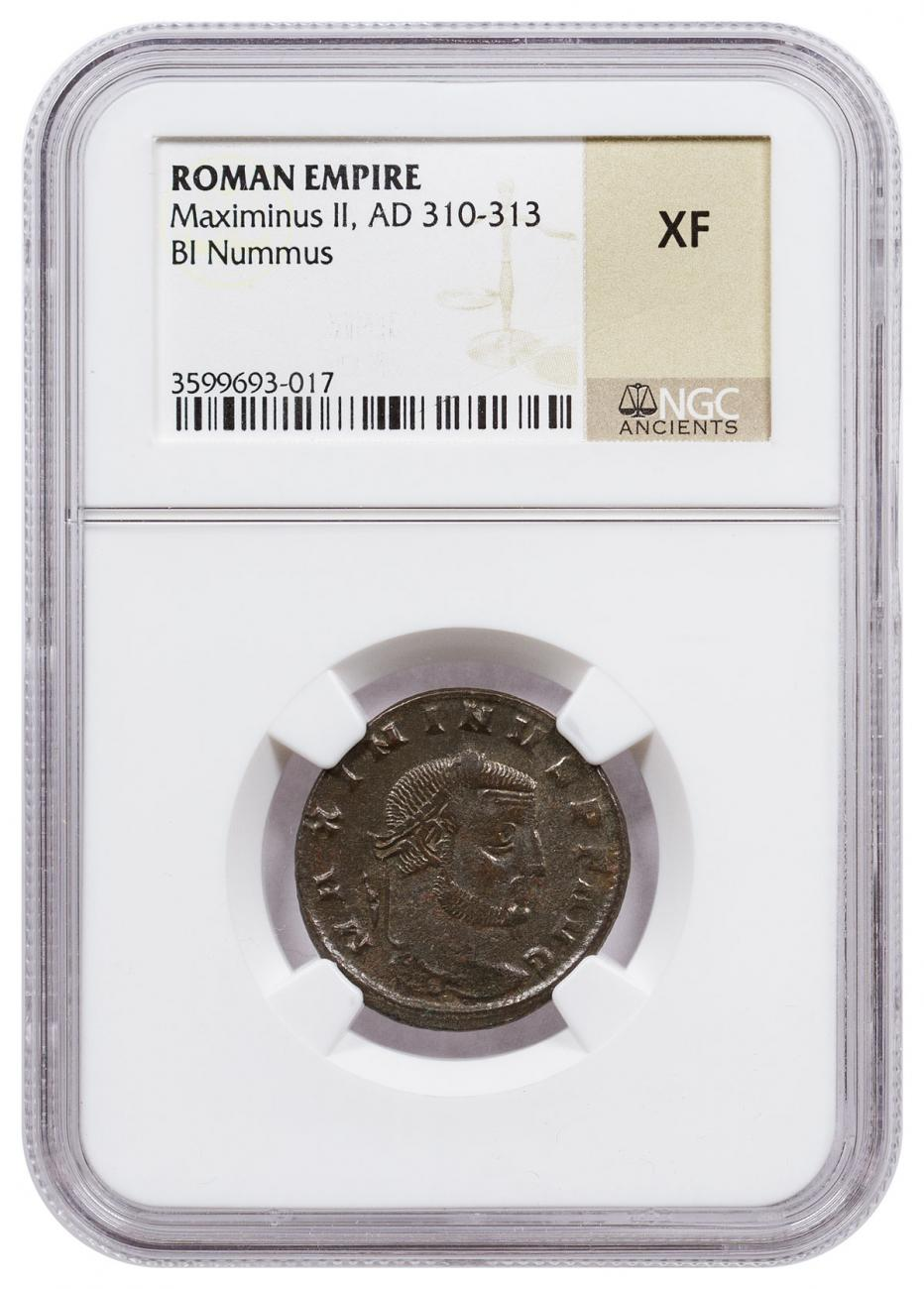 Roman Empire, Billion Nummus of Maximinus II (AD 310-313) NGC XF