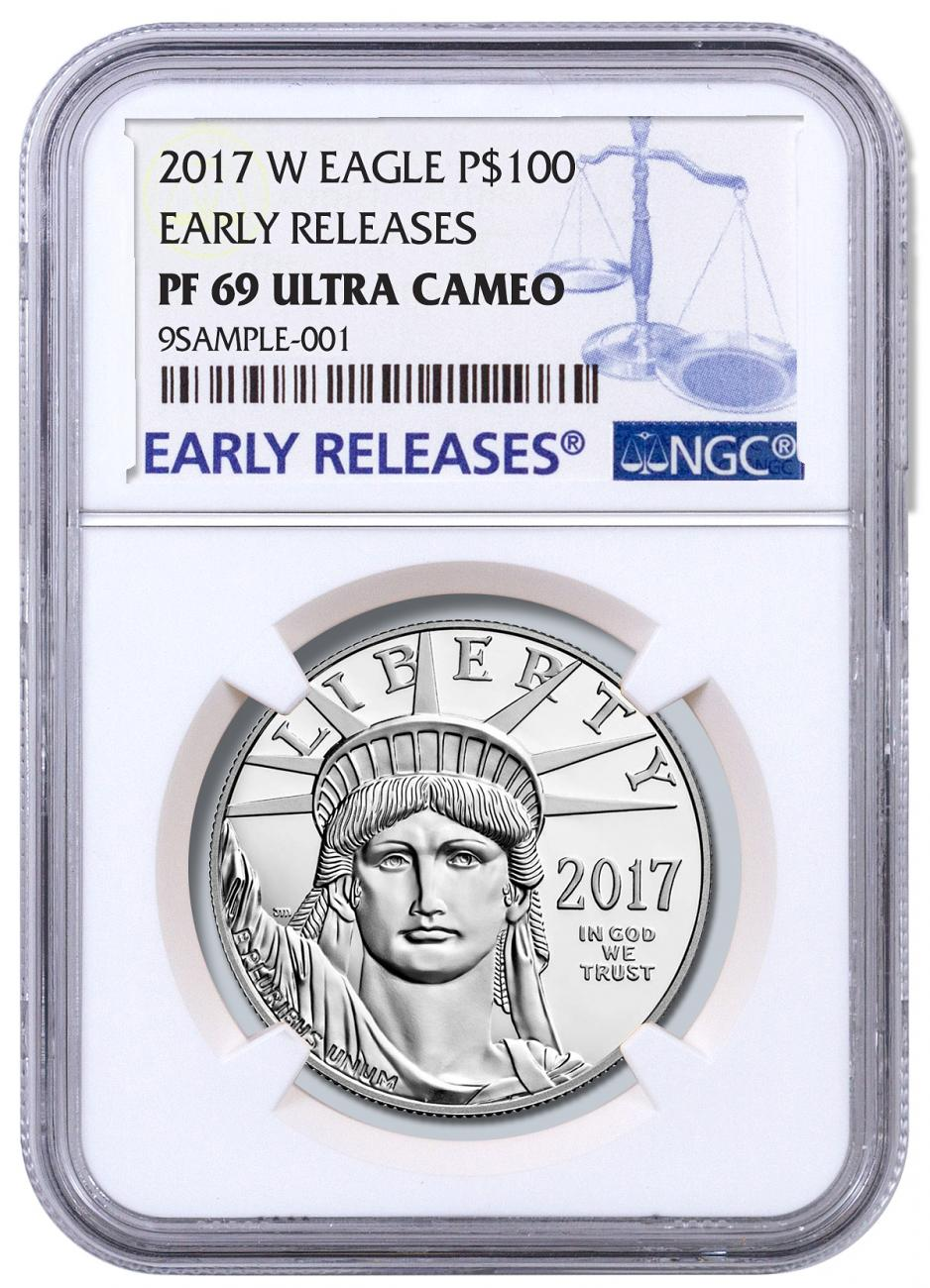 2017-W 1 oz Platinum American Eagle Proof $100 NGC PF69 UC ER