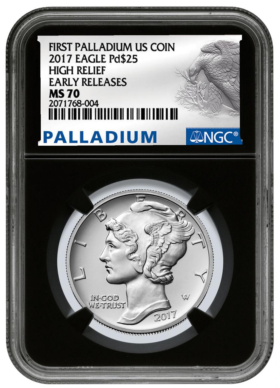 2017 1 oz American Silver Eagle Coin Early Releases Black Label NGC MS70