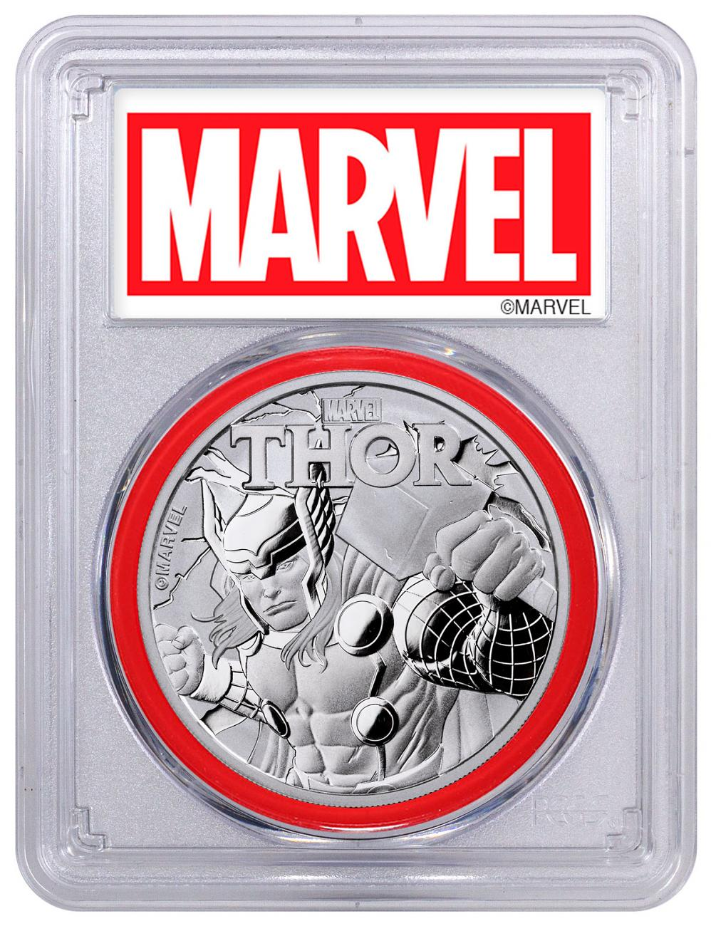 2018 Tuvalu Thor 1 oz Silver Marvel Series $1 Coin PCGS MS69 FS Red Gasket Exclusive Marvel Label