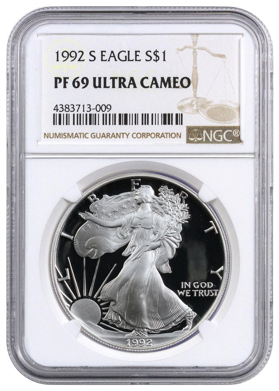 1992-S Proof American Silver Eagle NGC PF69 UC