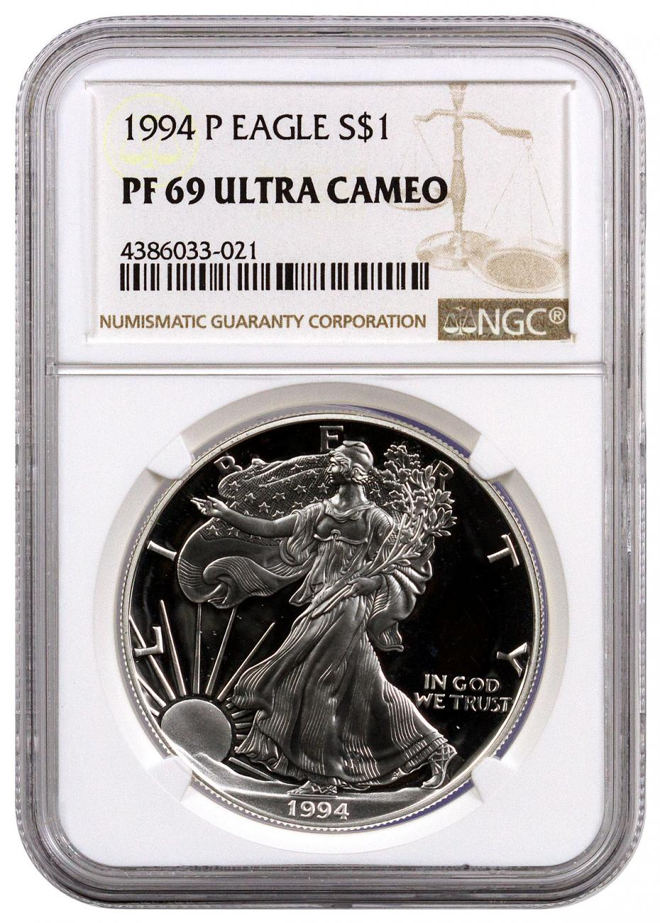 1994-P Proof American Silver Eagle NGC PF69 UC