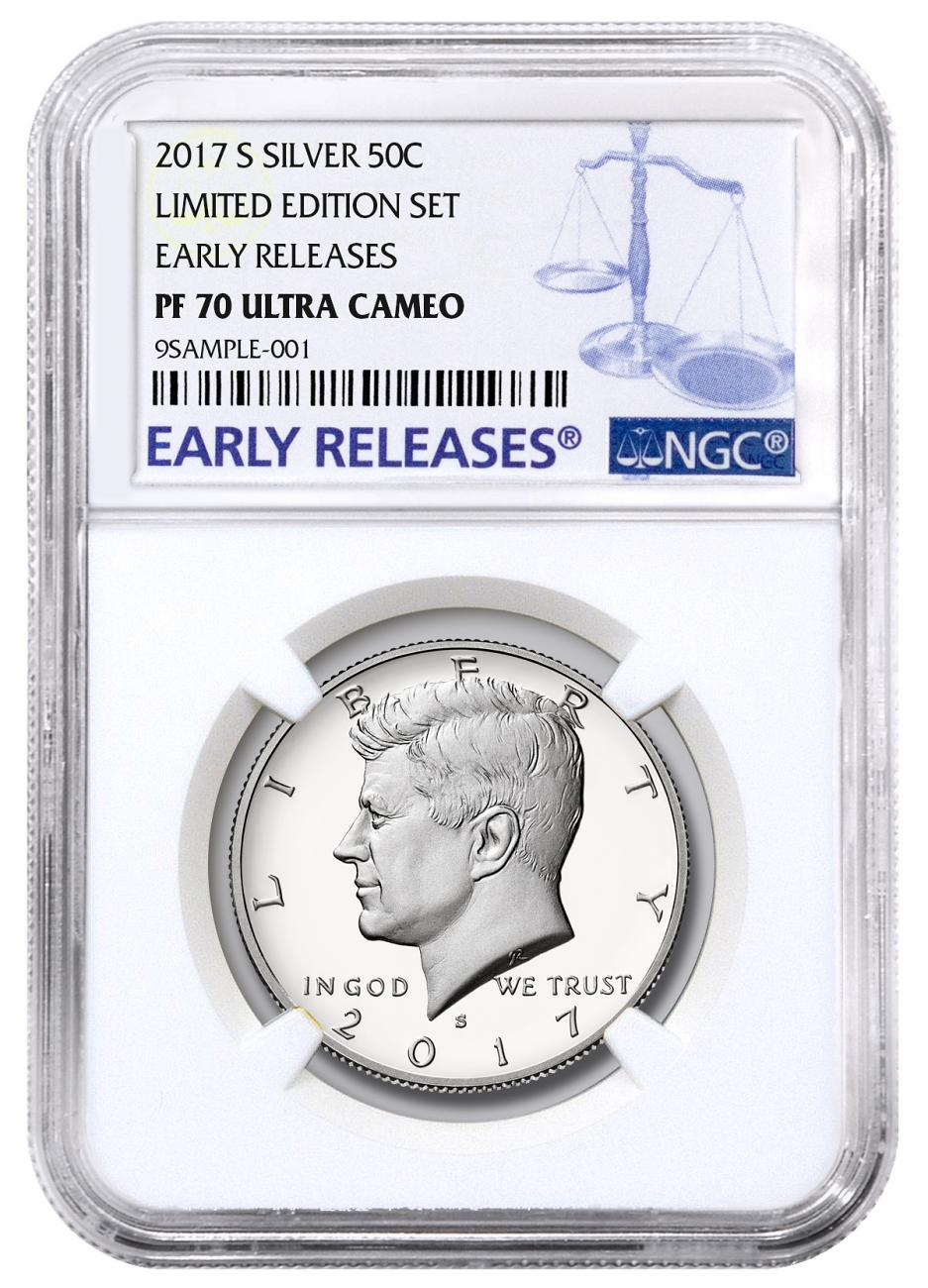 2017-S Silver Proof Kennedy Half Dollar From Limited Edition Silver Proof Set NGC PF70 UC ER