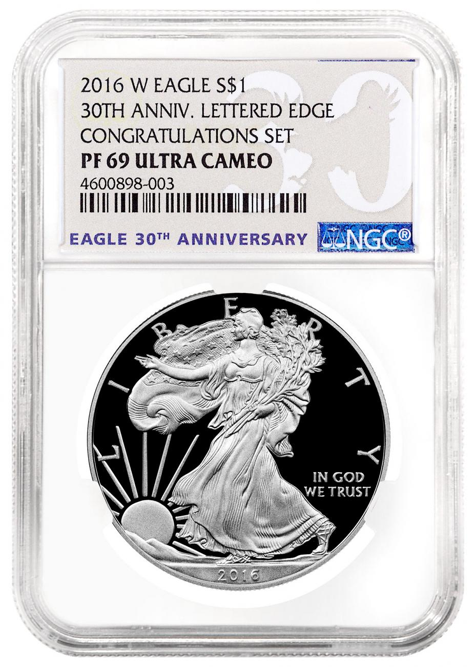 2016 W Proof American Silver Eagle Congratulations Set Ngc