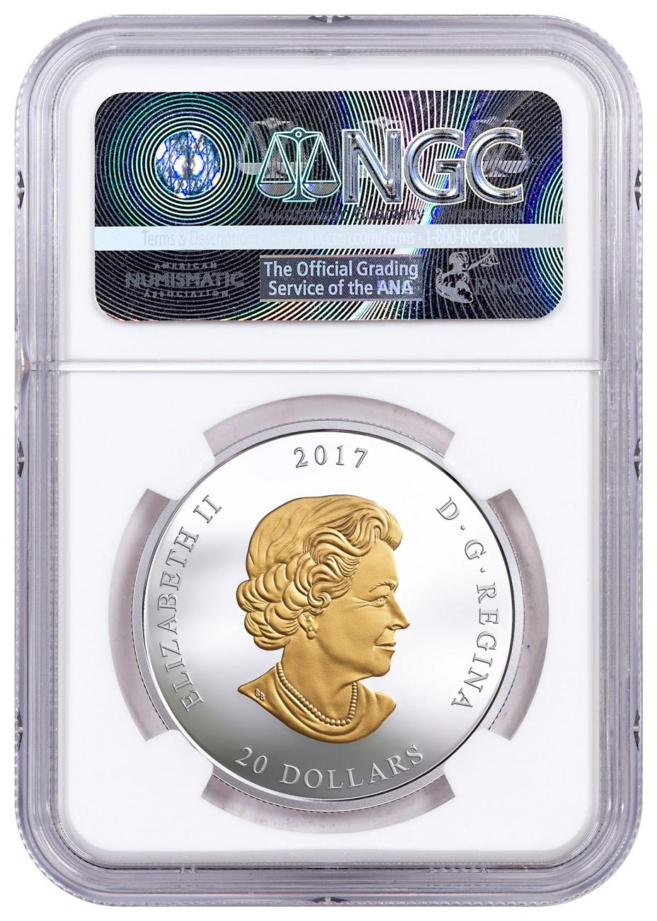 Pacific Salmon 1 oz Silver Gilt NGC PF70 UC ER SKU49991 2017 Canada Sea to Sea