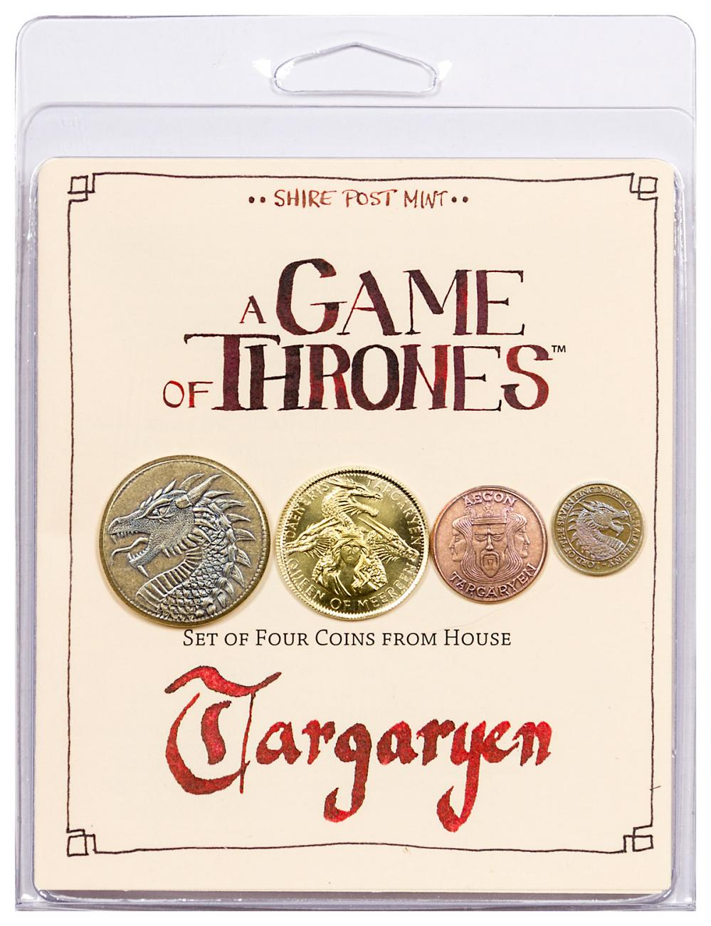 Set of 4 Fantasy Coins - A Game of Thrones House Targaryen Original Packaging
