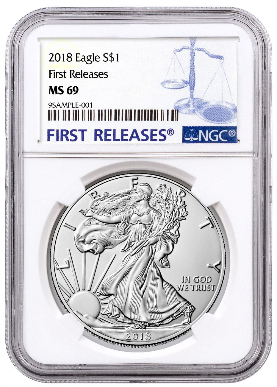 2018 American Silver Eagle NGC MS69 FR