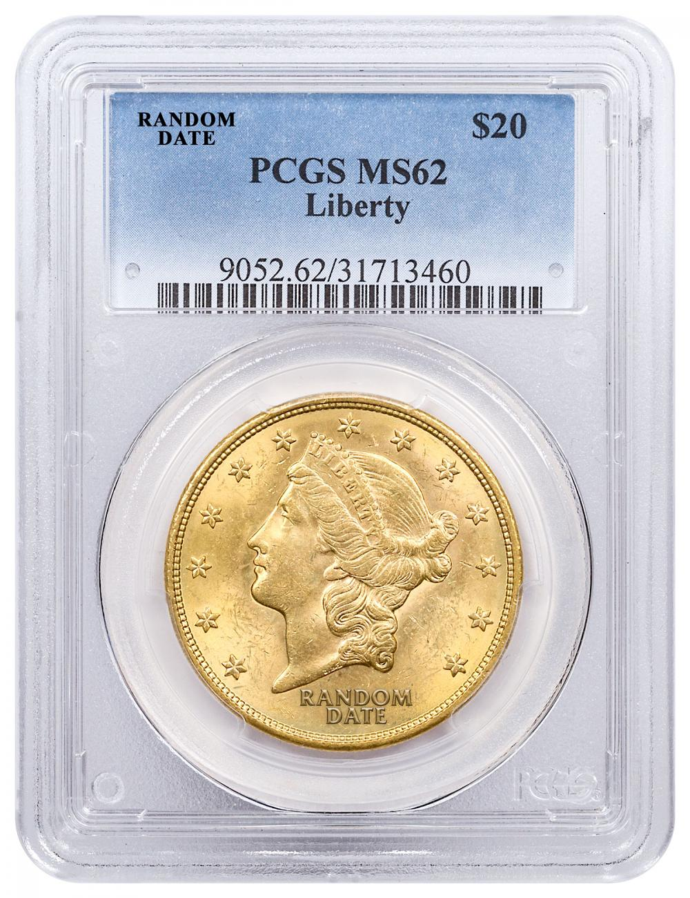 1877-1907 Liberty Head (With Motto) $20 Gold Double Eagle PCGS MS62