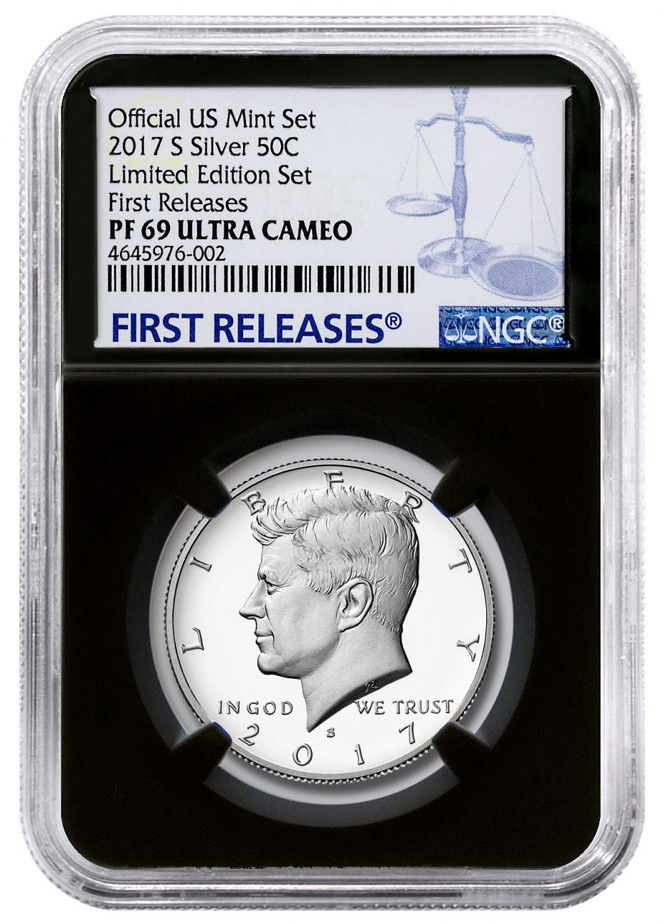 2017-S Silver Proof Kennedy Half Dollar From Limited Edition Silver Proof Set NGC PF69 UC FR Black Core Holder