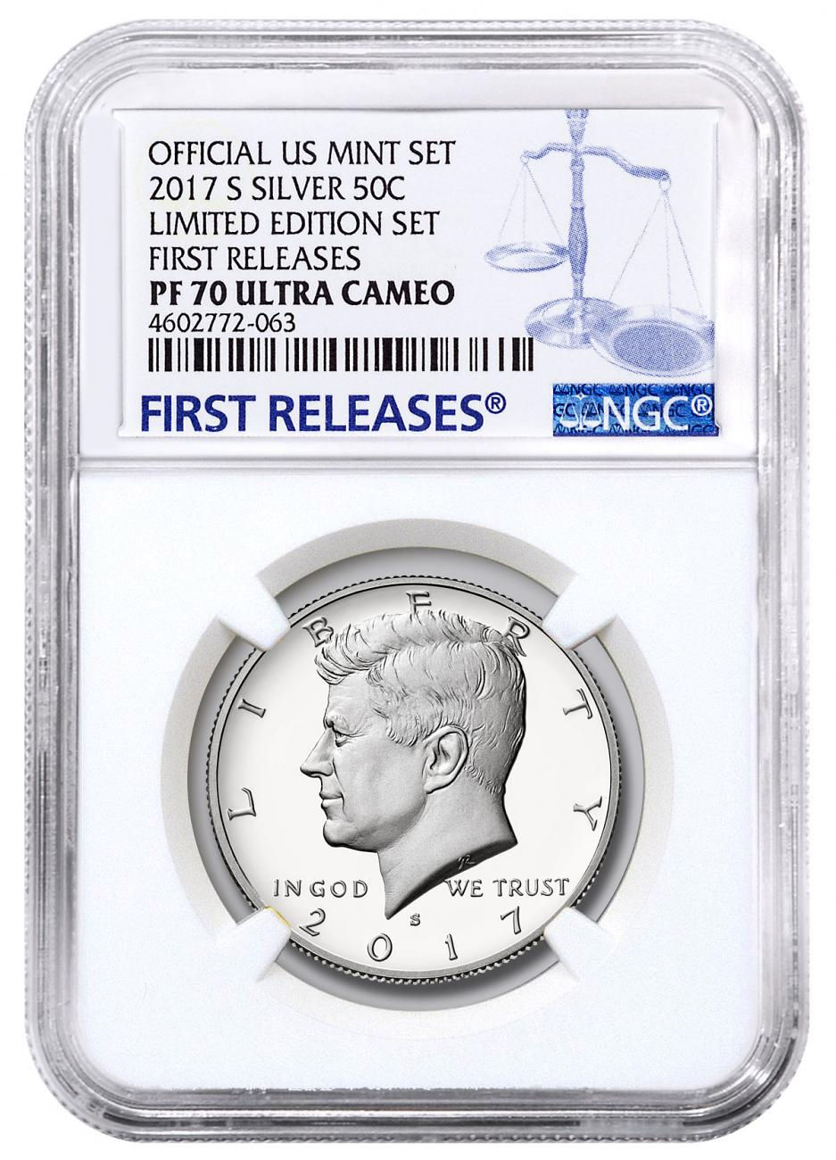 2017-S Silver Proof Kennedy Half Dollar From Limited Edition Silver Proof Set NGC PF70 UC FR
