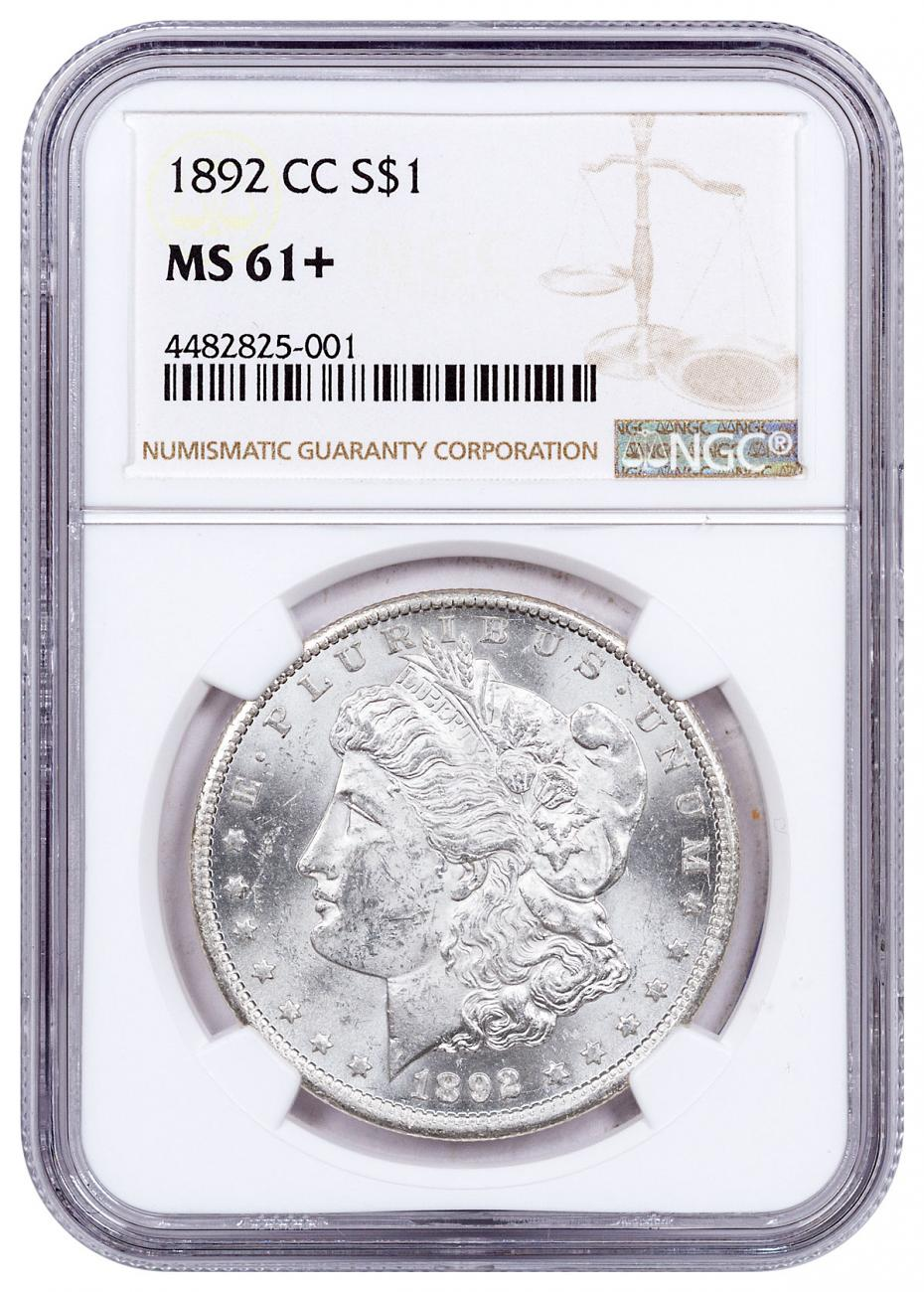 1892-CC Morgan Silver Dollar NGC MS61+
