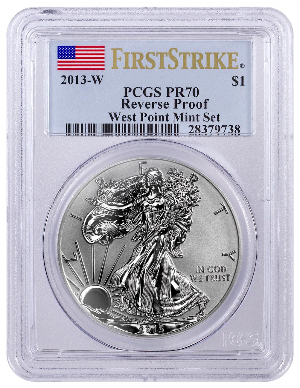 2013 W Reverse Proof Silver Eagle Pcgs Pr70 First Strike