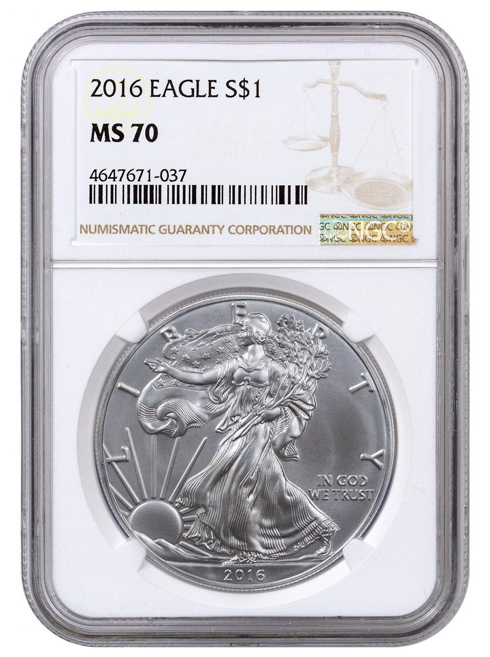 2016 American Silver Eagle NGC MS70
