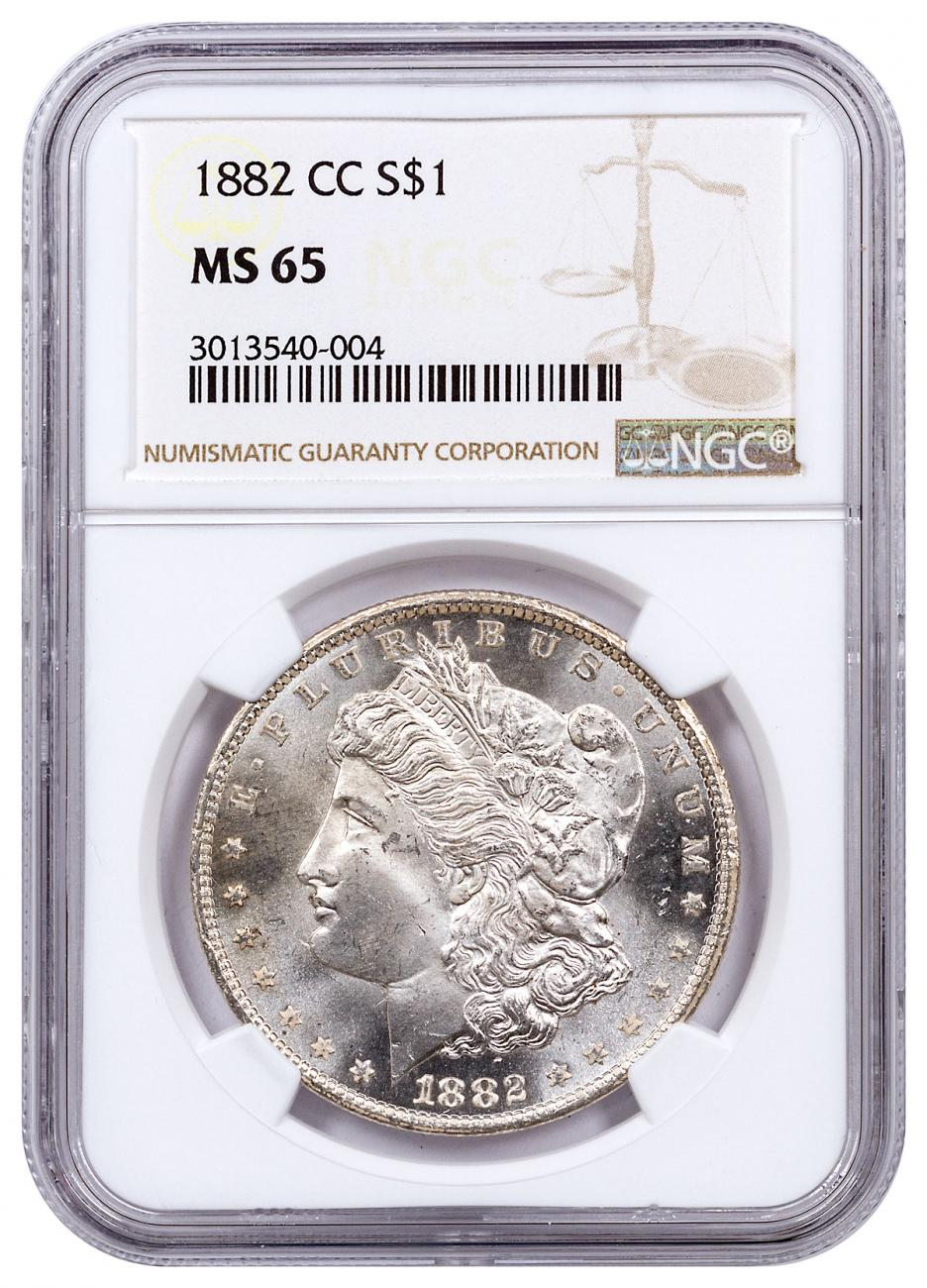 1882-CC Morgan Silver Dollar NGC MS65