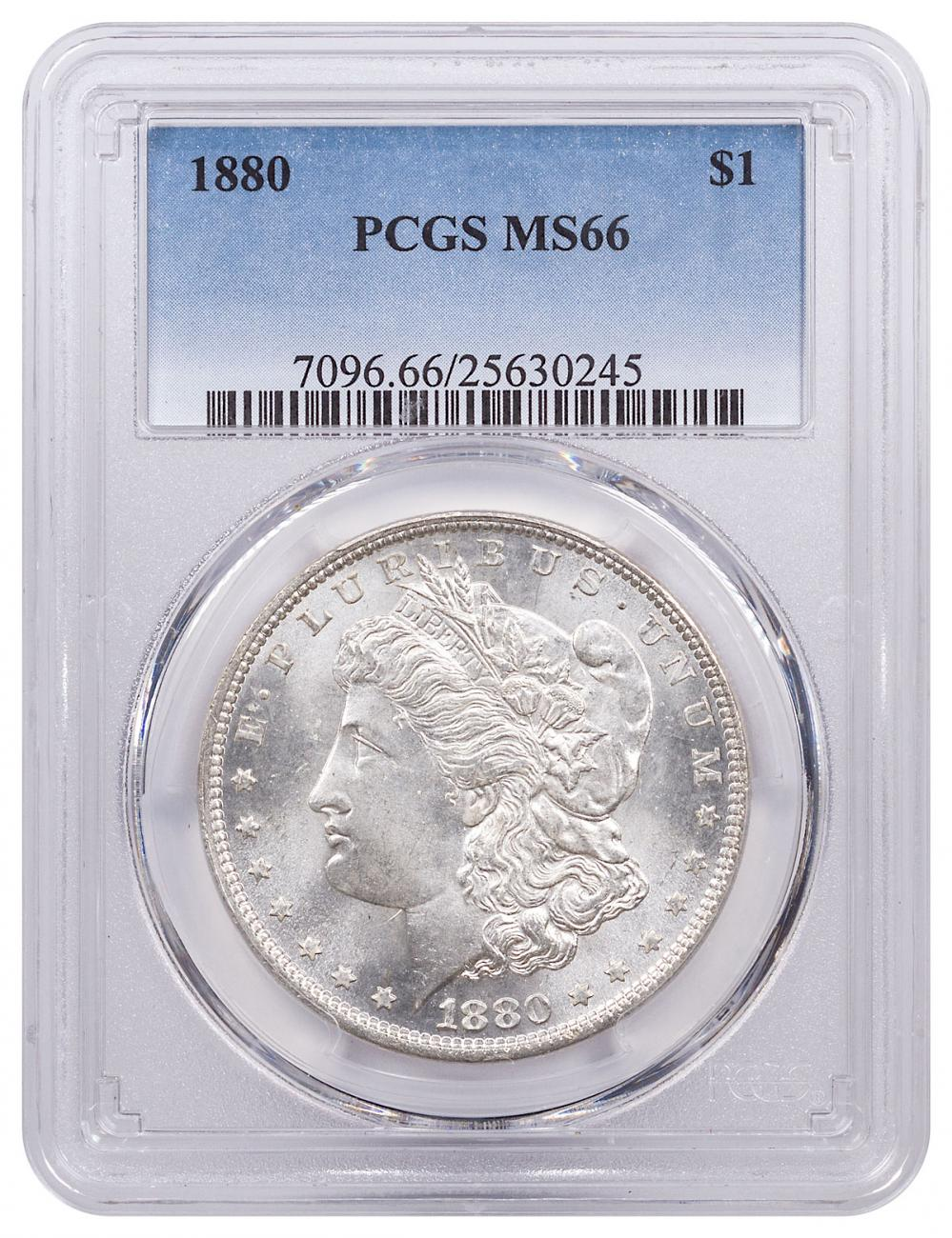 1880 Morgan Silver Dollar PCGS MS66