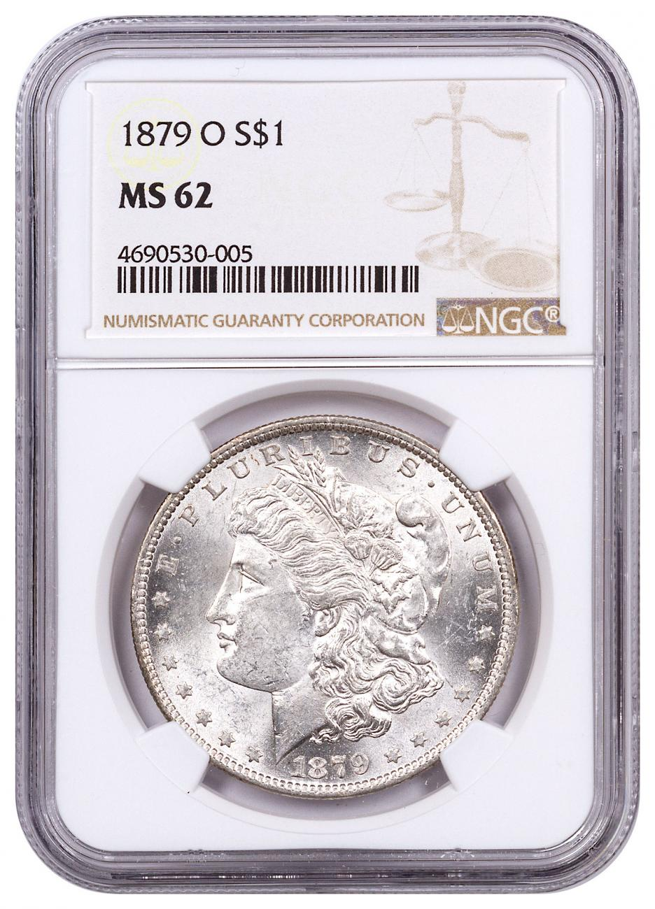 1879-O Morgan Silver Dollar NGC MS62