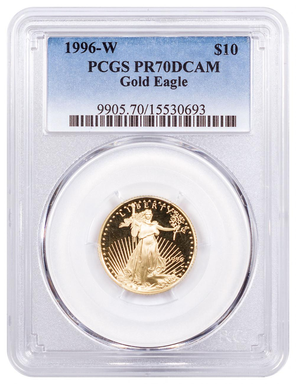 1996-W 1/4 oz Gold American Eagle Proof $10 PCGS PR70 DCAM