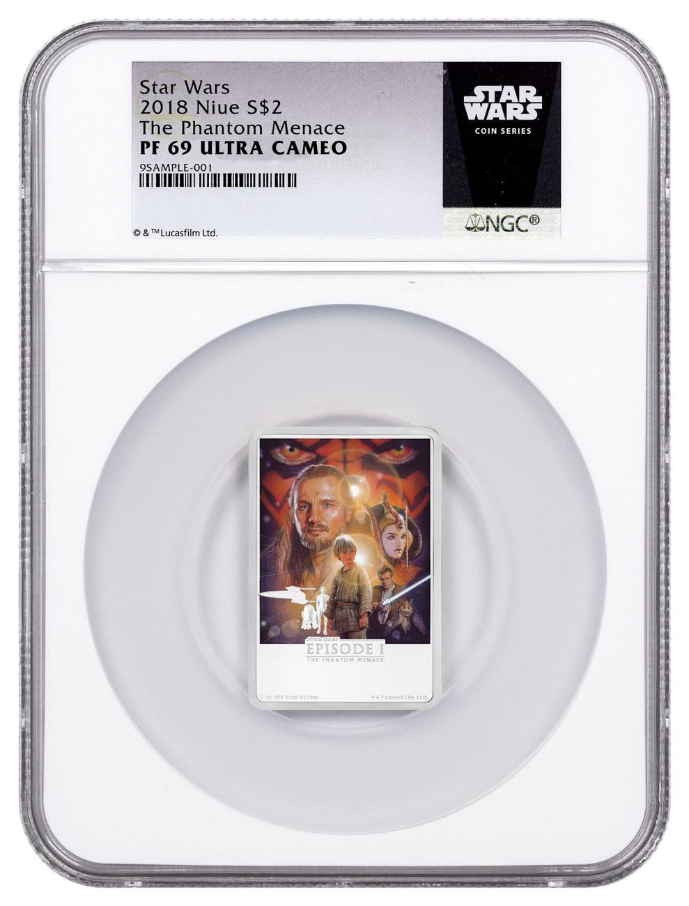 2018 Niue Star Wars Posters - The Phantom Menace 1 oz Silver Proof $2 Coin NGC PF69 UC Exclusive Star Wars Label