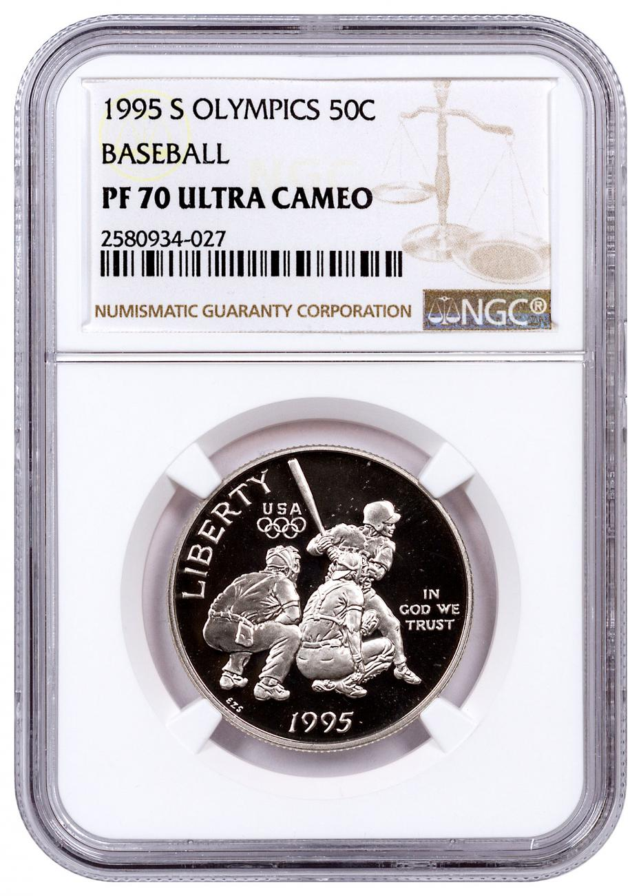 1995-S Olympics - Baseball Commemorative Half Dollar Proof NGC PF70 UC