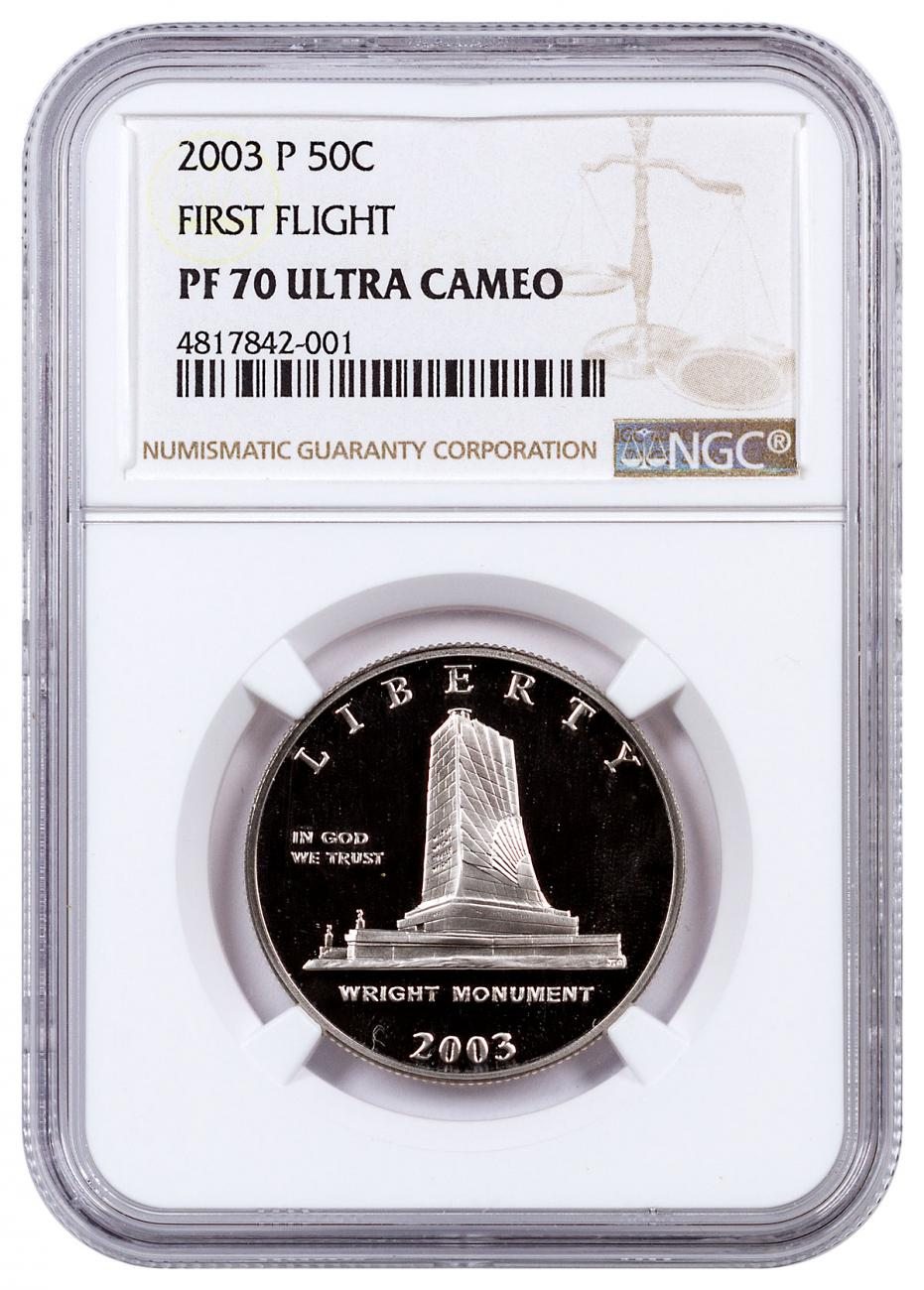2003-P First Flight Centennial Commemorative Half Dollar Proof NGC PF70