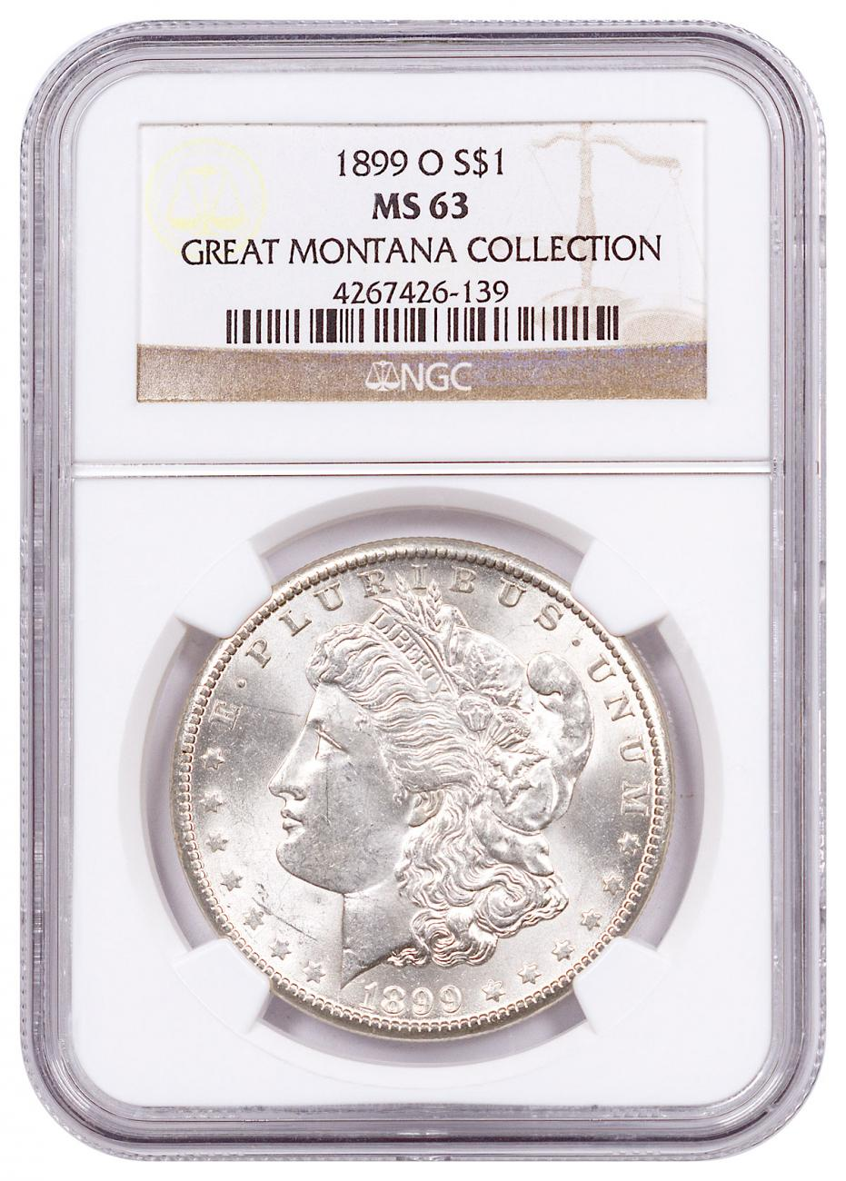 1899-O Morgan Silver Dollar From the Great Montana Collection NGC MS63