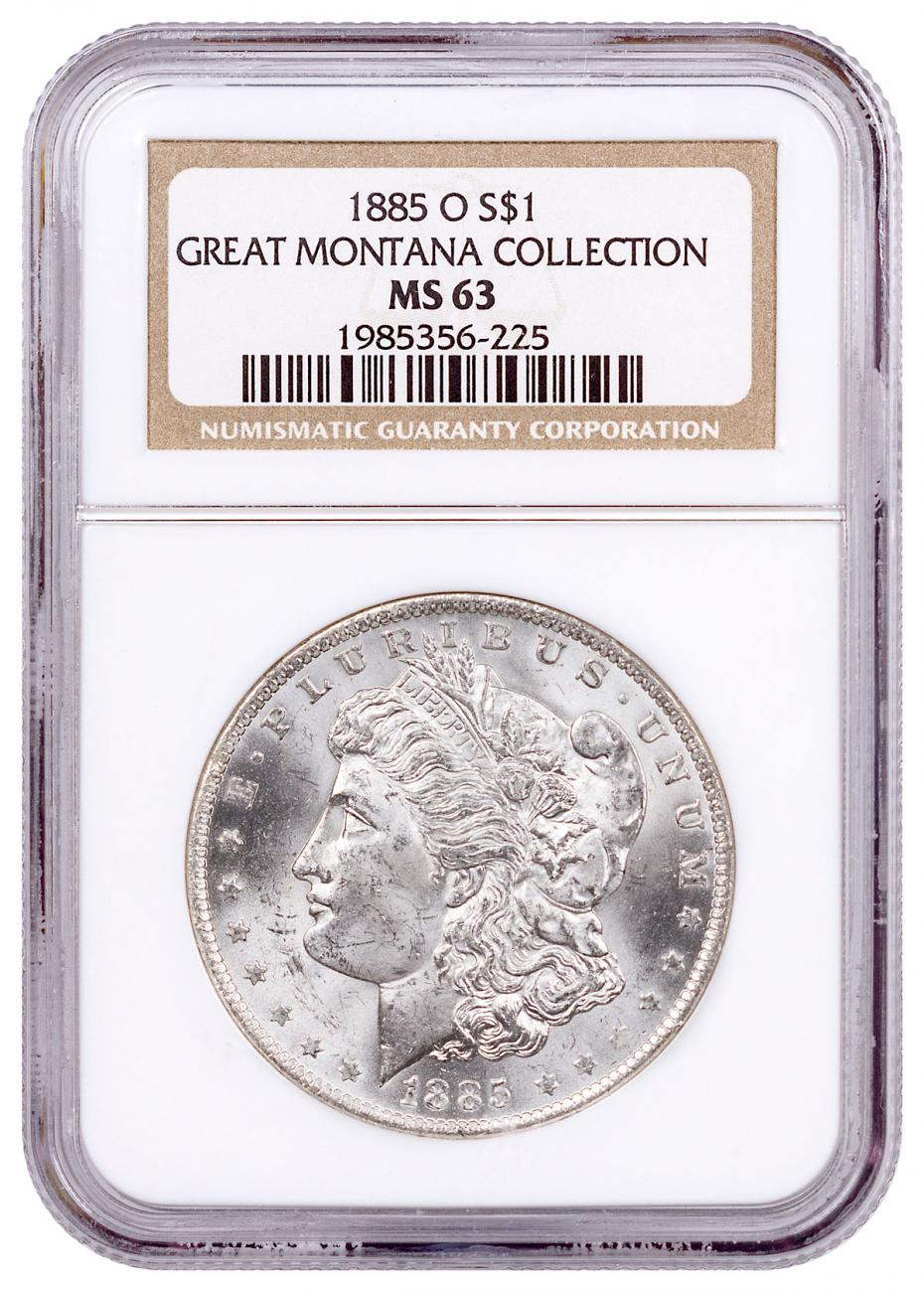 1885-O Morgan Silver Dollar From the Great Montana Collection NGC MS63