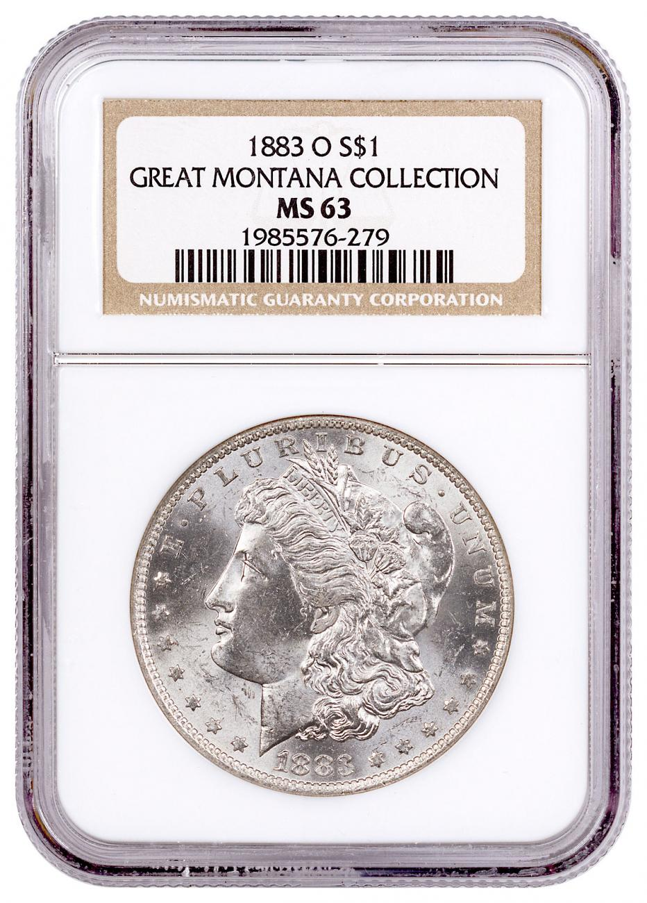 1883-O Morgan Silver Dollar From the Great Montana Collection NGC MS63 with Morgan Guide