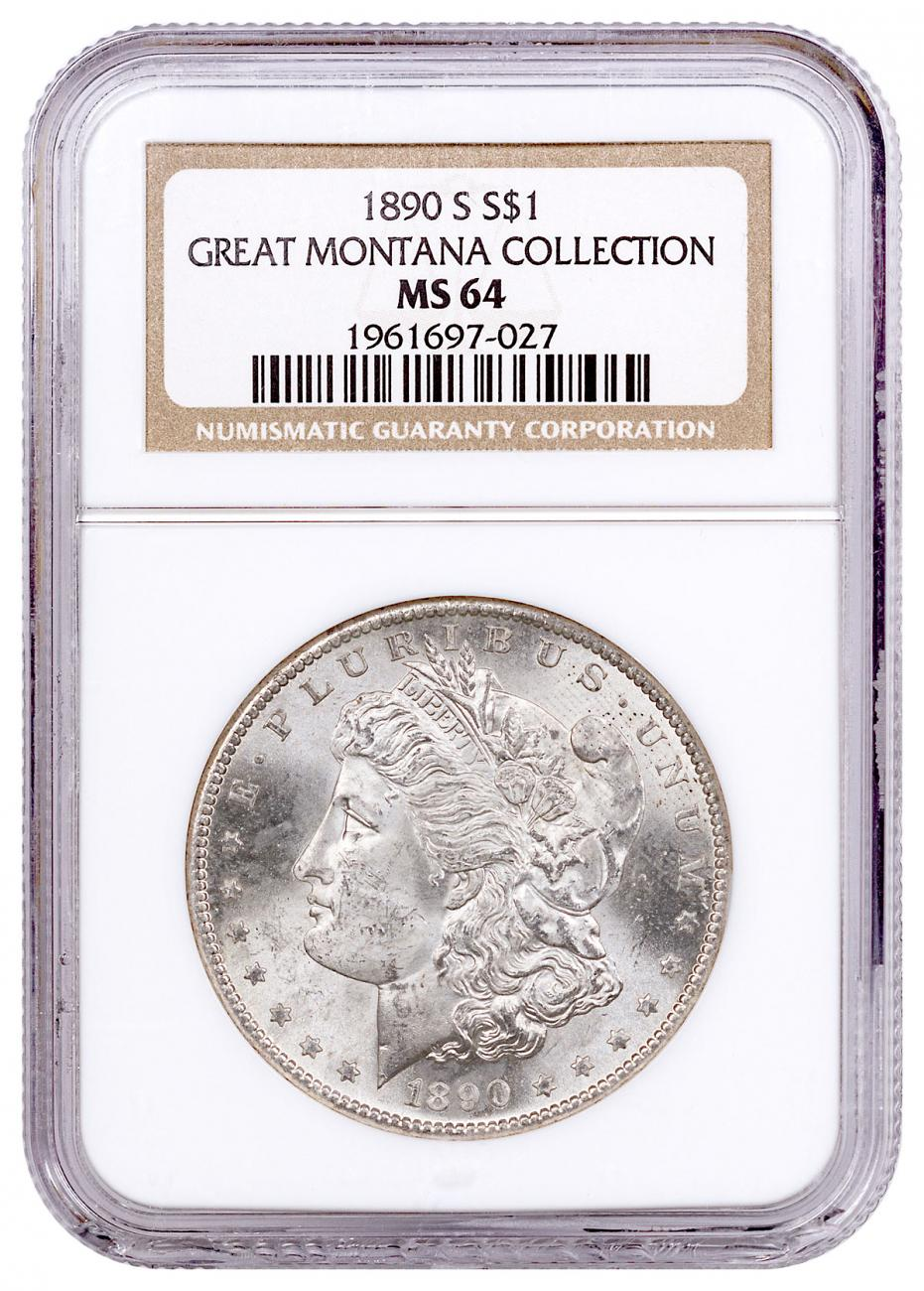 1890-S Morgan Silver Dollar From the Great Montana Collection NGC MS64