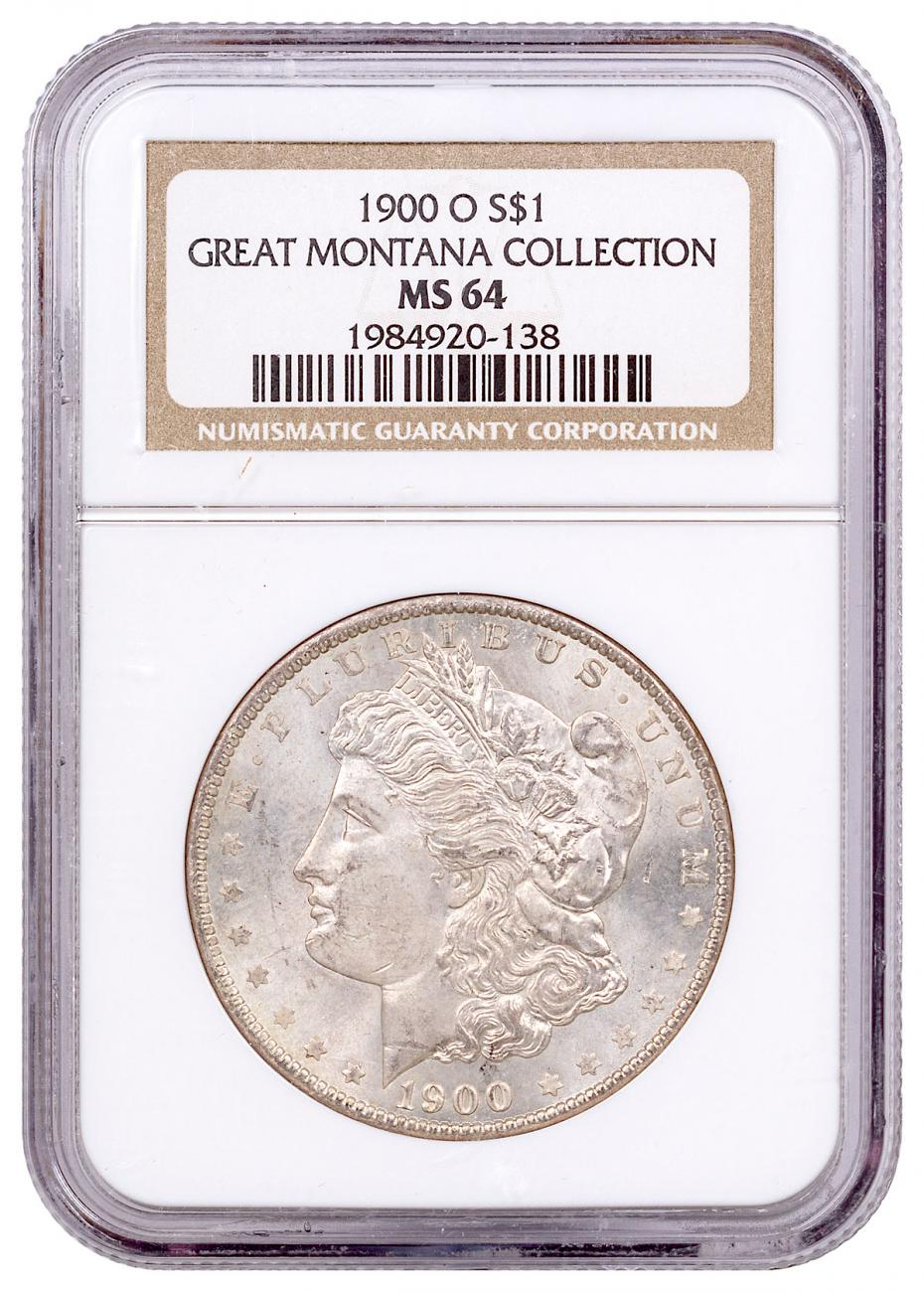 1900-O Morgan Silver Dollar From the Great Montana Collection NGC MS64